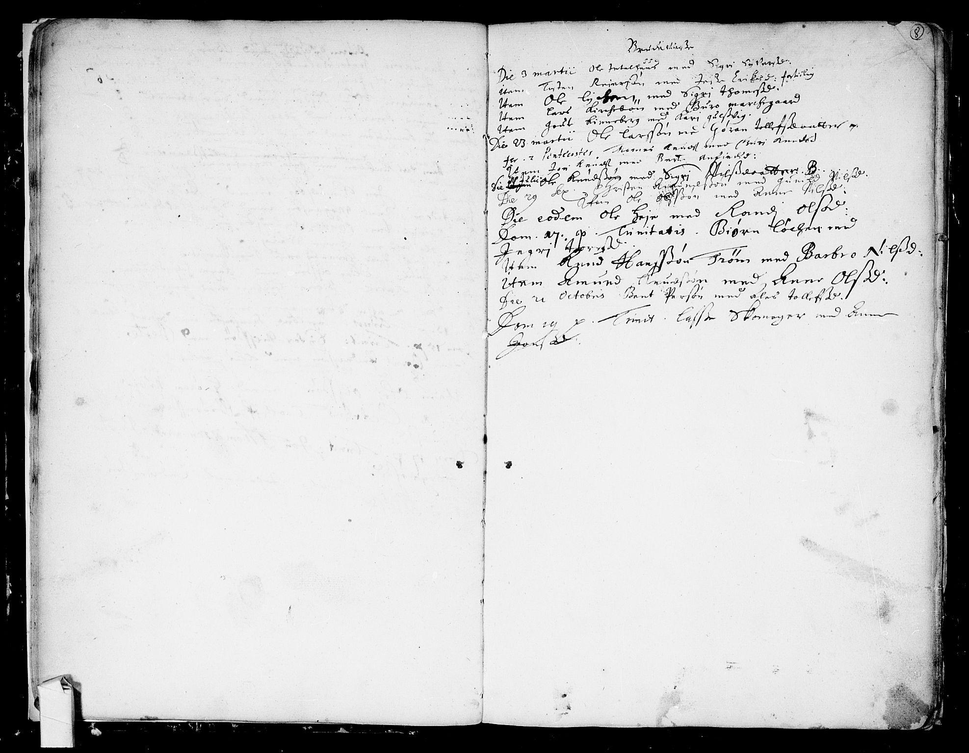 SAKO, Nes kirkebøker, F/Fa/L0001: Ministerialbok nr. 1, 1693-1706, s. 8
