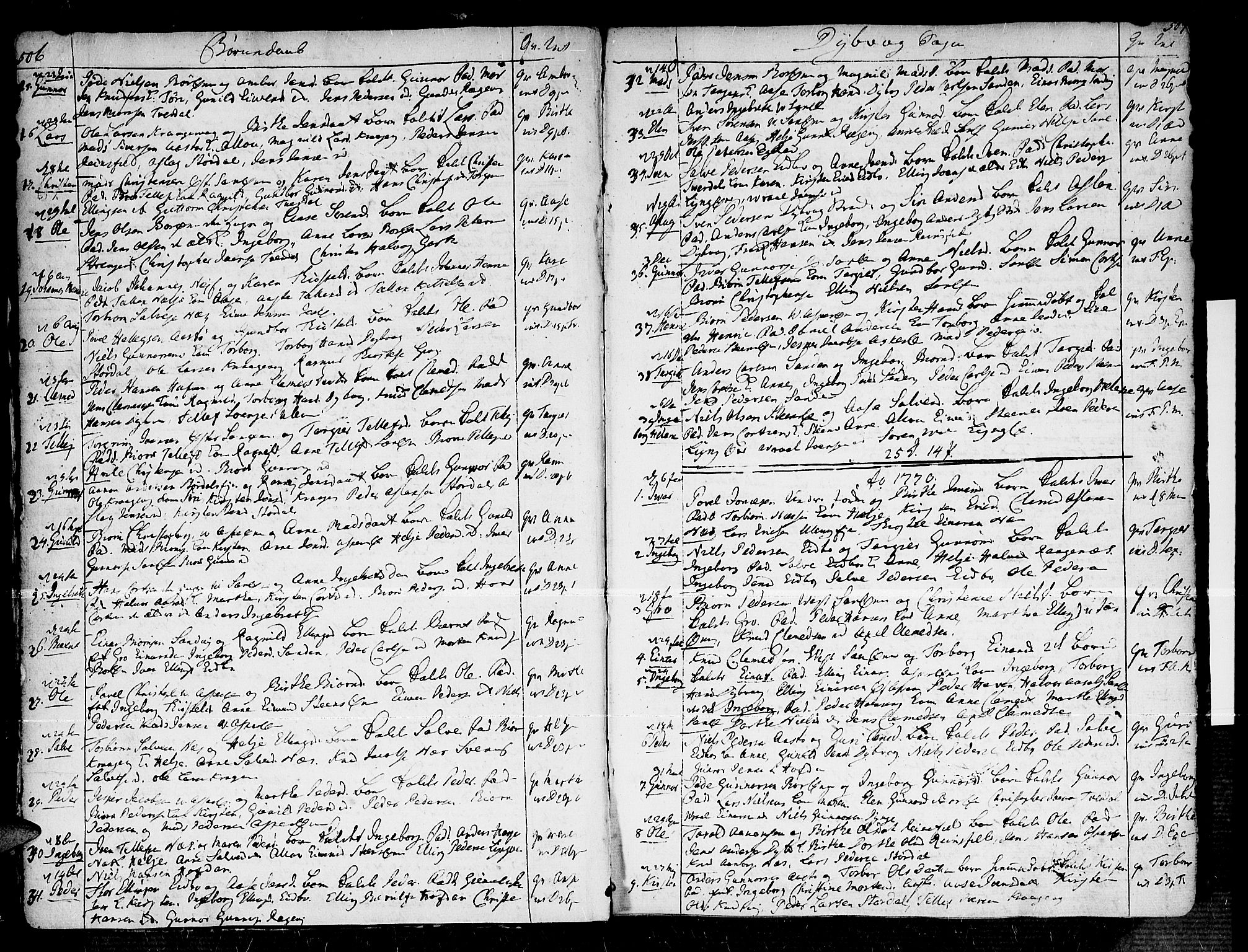 SAK, Dypvåg sokneprestkontor, F/Fa/Faa/L0001: Ministerialbok nr. A 1 /1, 1765-1798, s. 506-507