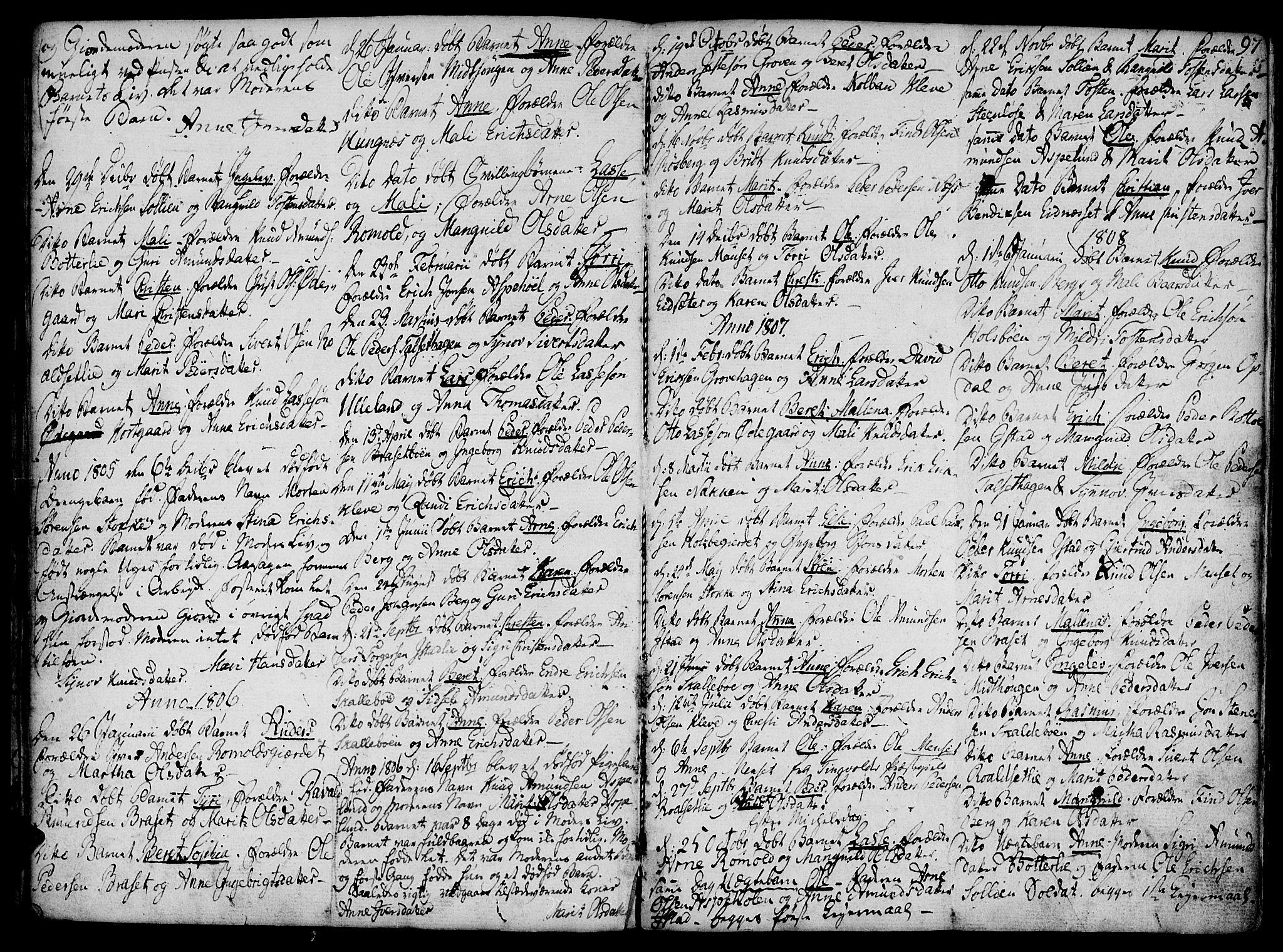 SAT, Ministerialprotokoller, klokkerbøker og fødselsregistre - Møre og Romsdal, 555/L0650: Ministerialbok nr. 555A02 /2, 1798-1821, s. 97