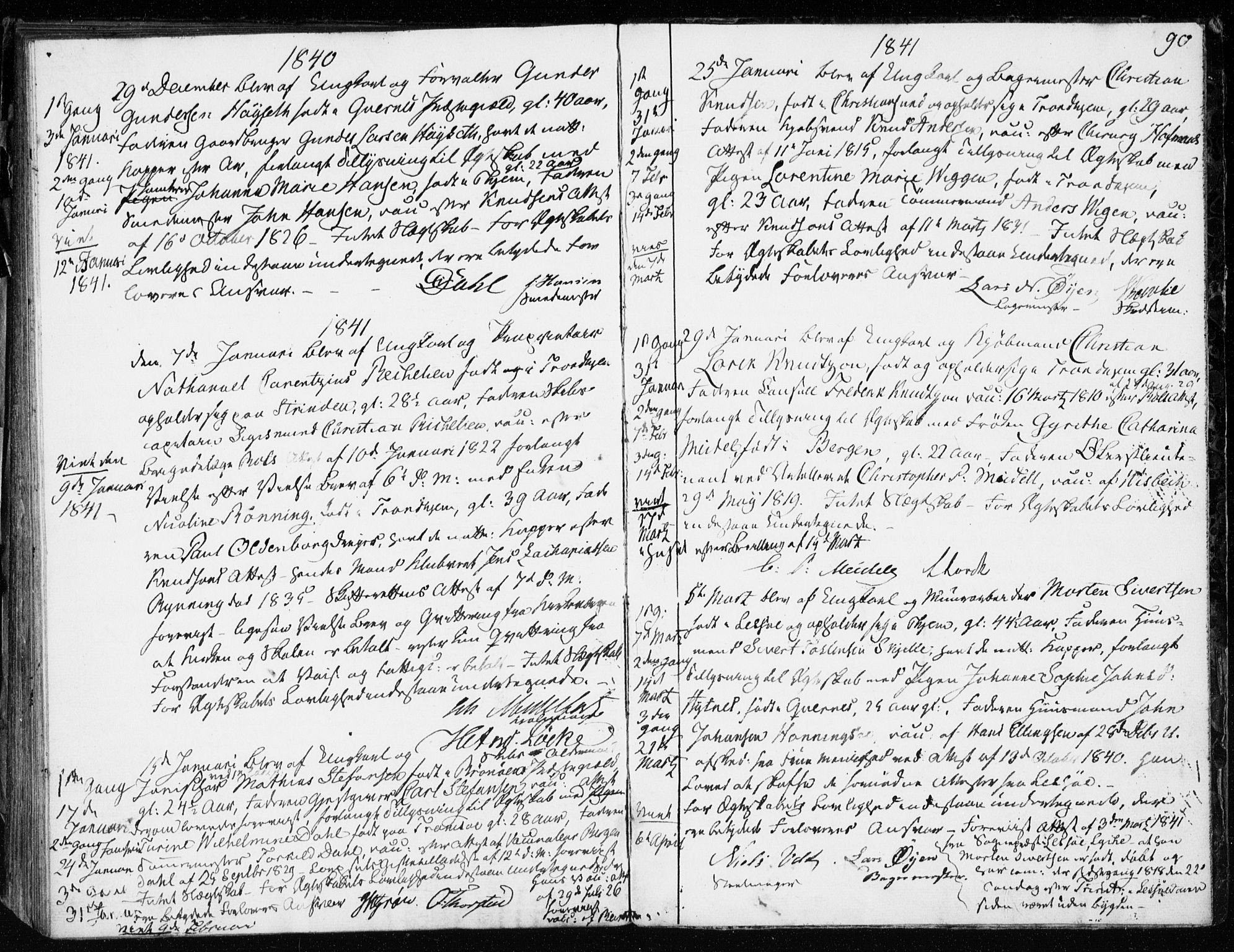 SAT, Ministerialprotokoller, klokkerbøker og fødselsregistre - Sør-Trøndelag, 601/L0046: Ministerialbok nr. 601A14, 1830-1841, s. 90