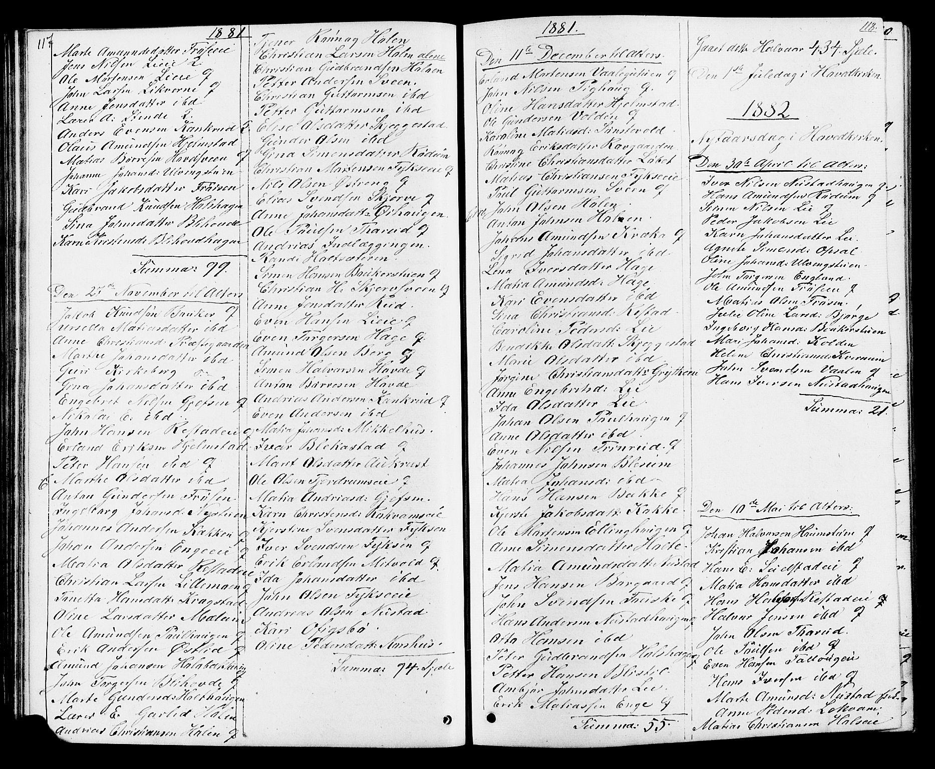 SAH, Østre Gausdal prestekontor, Klokkerbok nr. 1, 1863-1893, s. 117-118