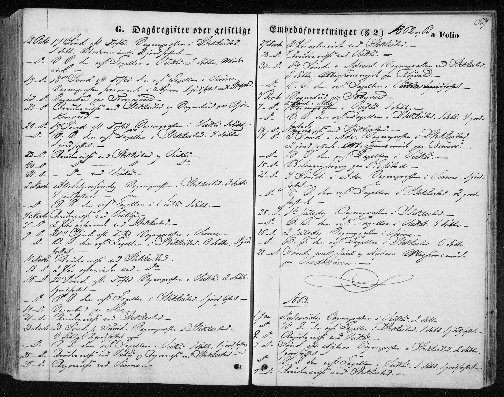 SAT, Ministerialprotokoller, klokkerbøker og fødselsregistre - Nord-Trøndelag, 723/L0241: Ministerialbok nr. 723A10, 1860-1869, s. 529