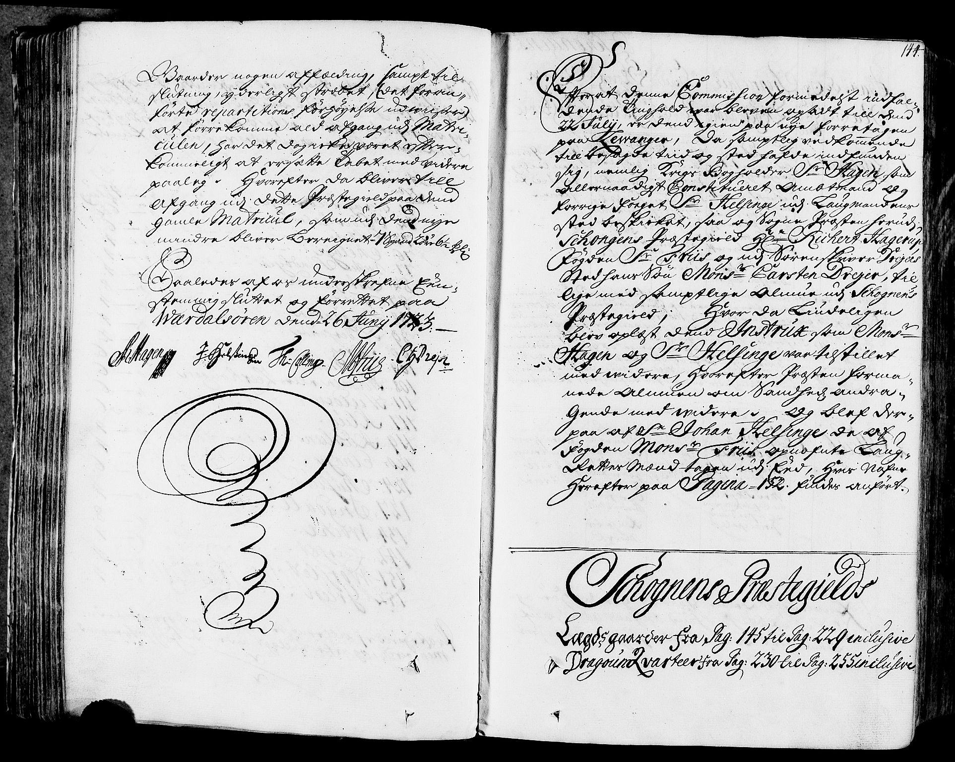 RA, Rentekammeret inntil 1814, Realistisk ordnet avdeling, N/Nb/Nbf/L0164: Stjørdal og Verdal eksaminasjonsprotokoll, 1723, s. 143b-144a