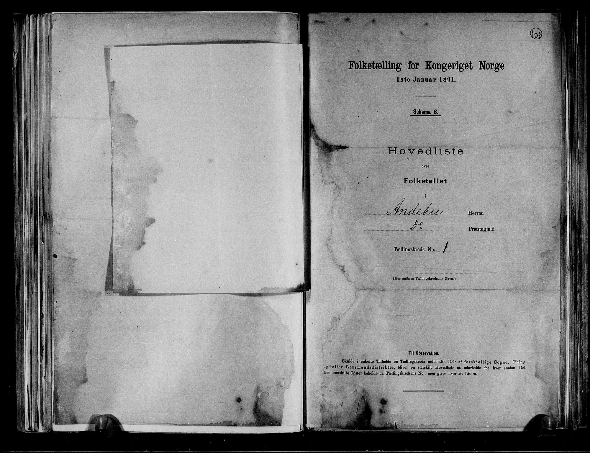 RA, Folketelling 1891 for 0719 Andebu herred, 1891, s. 5