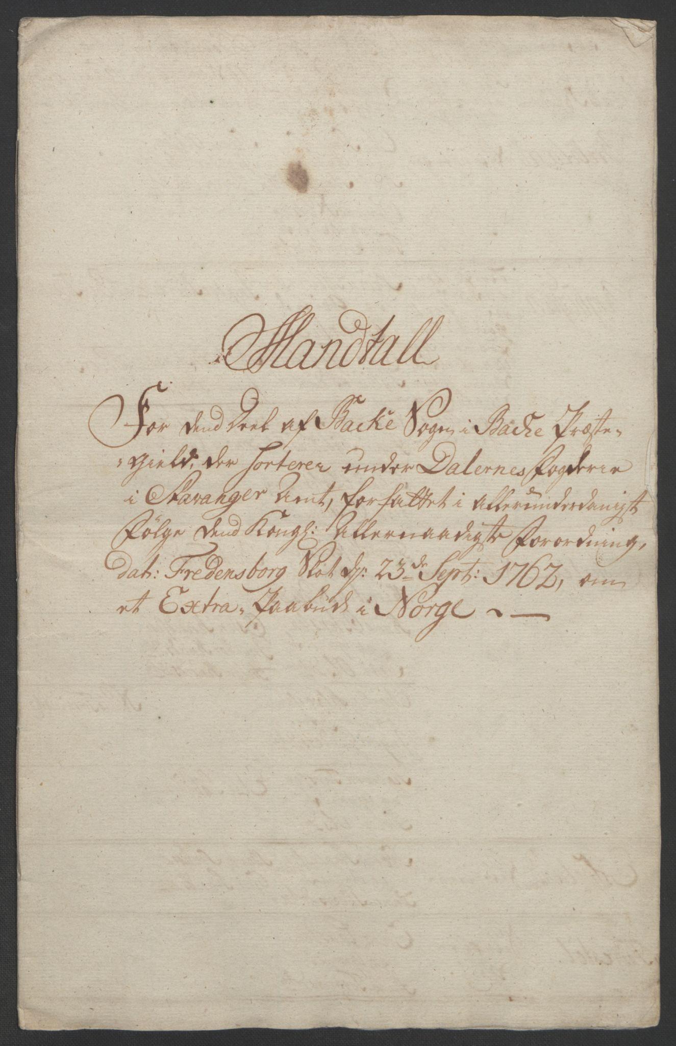RA, Rentekammeret inntil 1814, Realistisk ordnet avdeling, Ol/L0015: [Gg 10]: Ekstraskatten, 23.09.1762. Stavanger by, Jæren og Dalane, Bergen, 1762-1764, s. 184