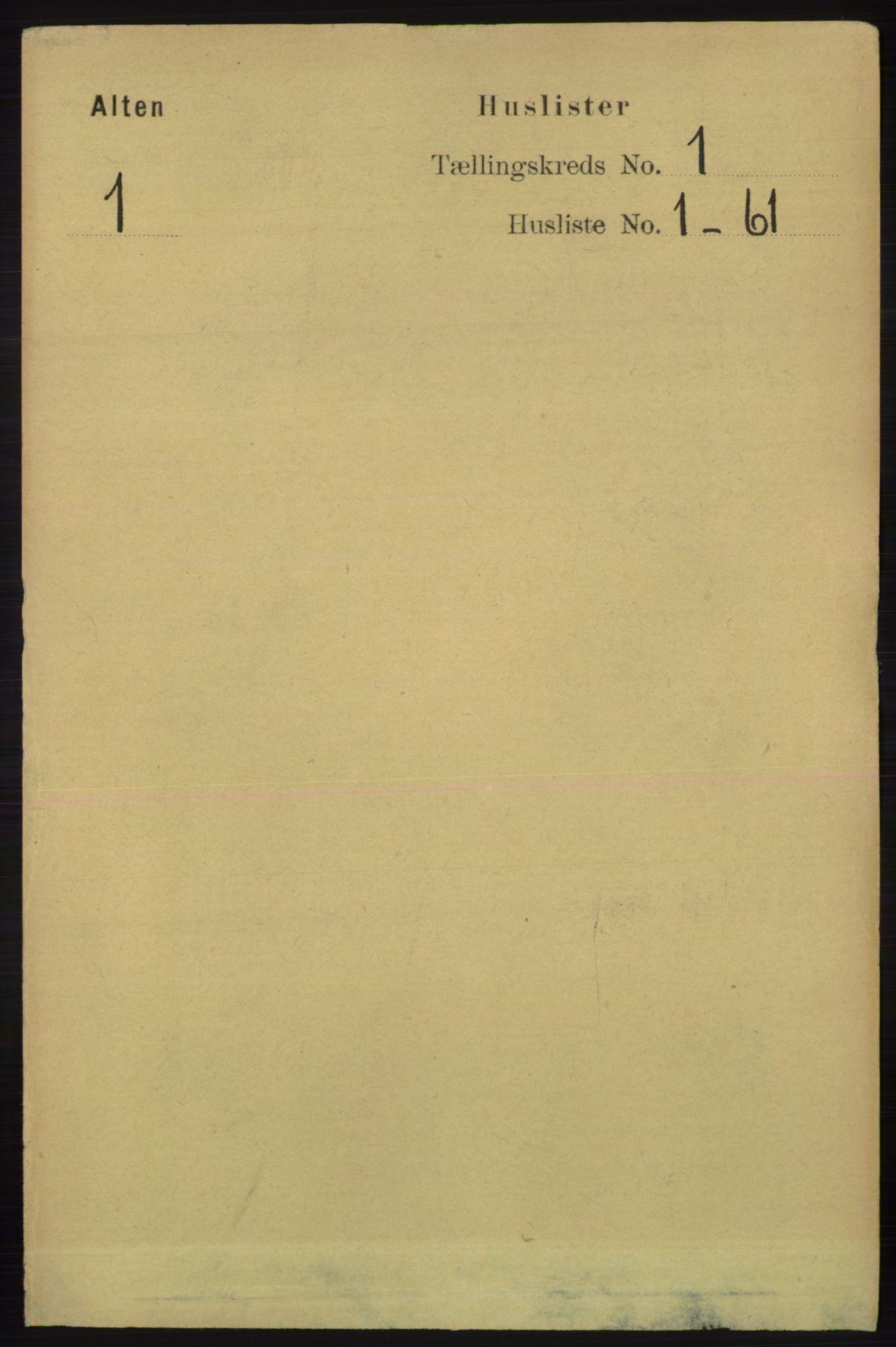 RA, Folketelling 1891 for 2012 Alta herred, 1891, s. 19