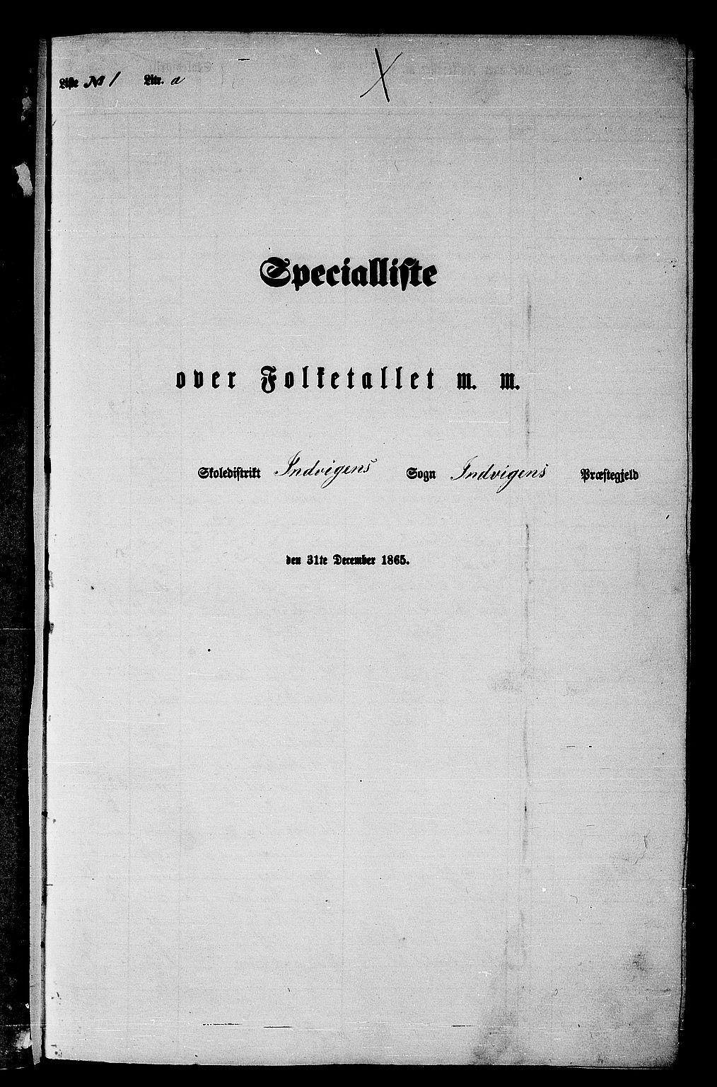RA, Folketelling 1865 for 1447P Innvik prestegjeld, 1865, s. 11