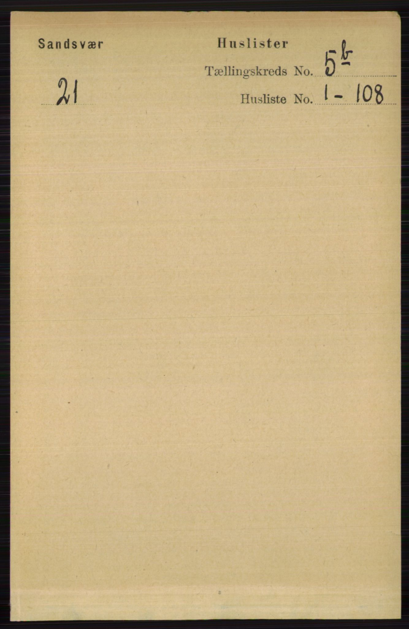 RA, Folketelling 1891 for 0629 Sandsvær herred, 1891, s. 2679