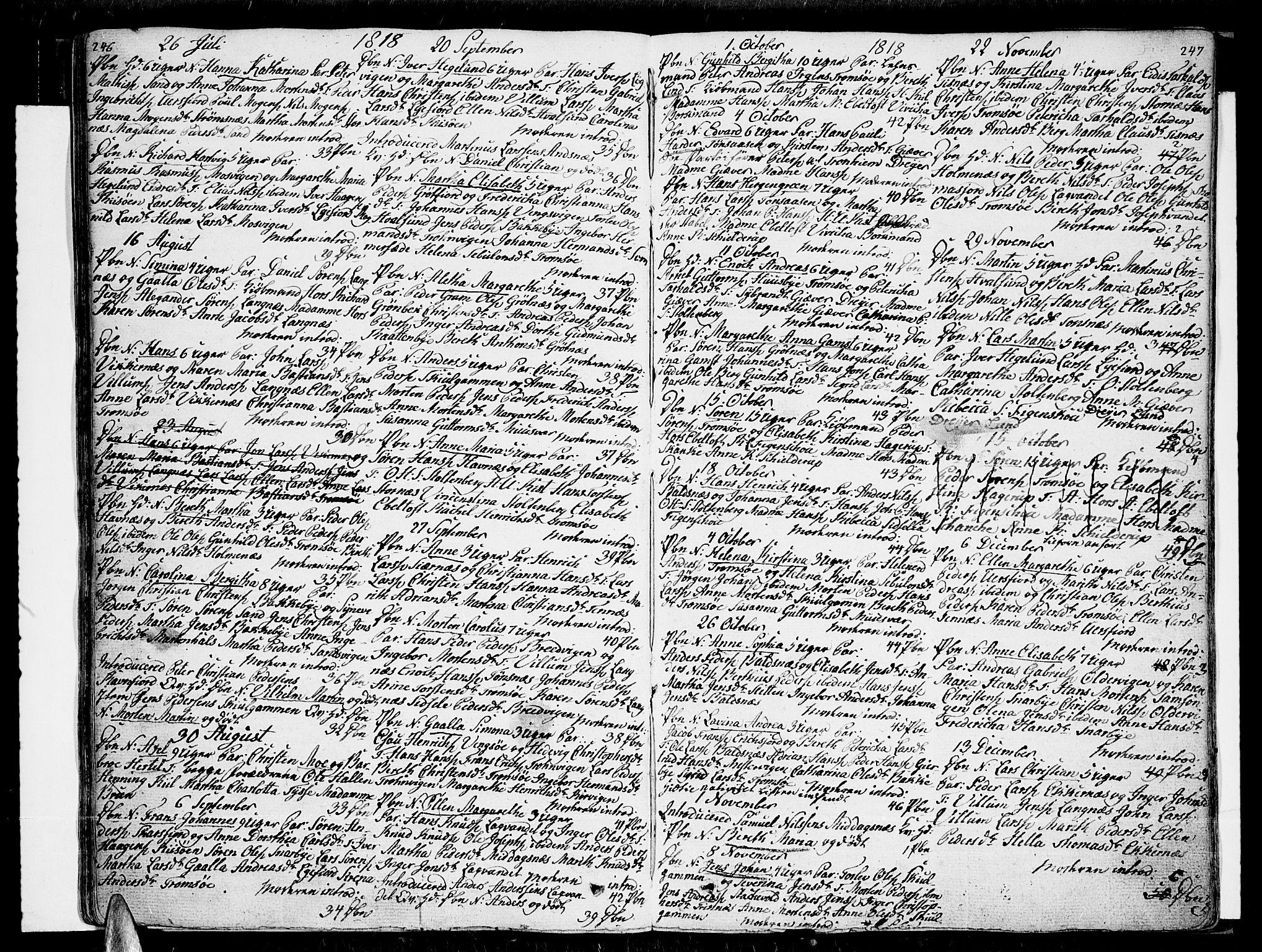 SATØ, Tromsø sokneprestkontor/stiftsprosti/domprosti, G/Ga/L0006kirke: Ministerialbok nr. 6, 1806-1821, s. 246-247