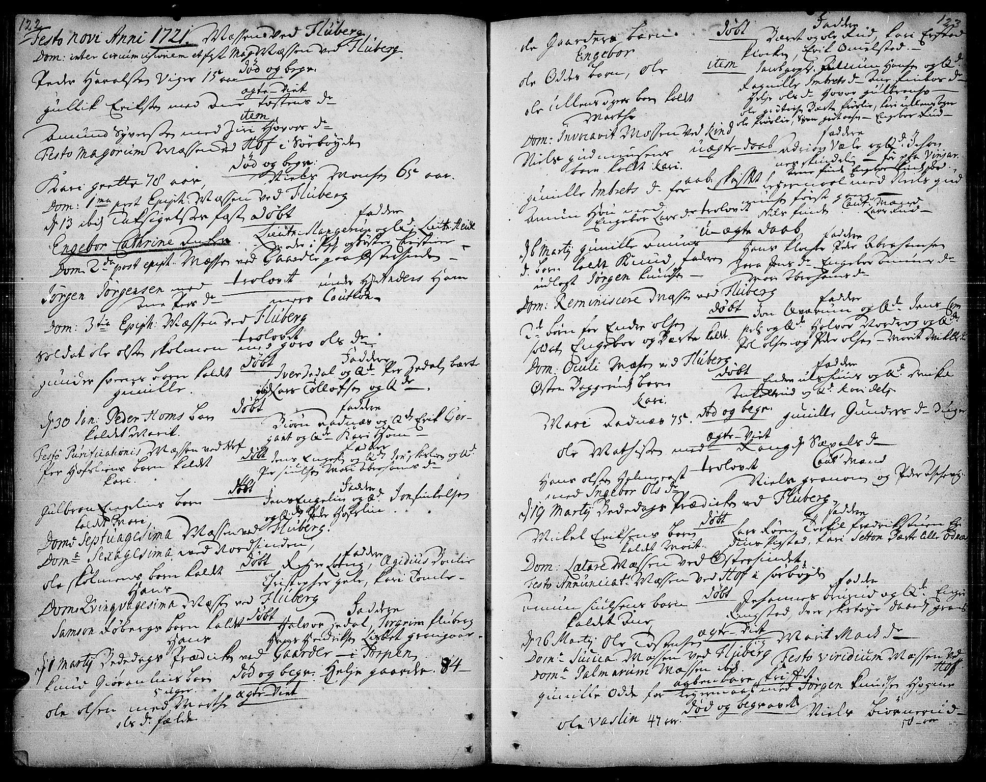 SAH, Land prestekontor, Ministerialbok nr. 1, 1708-1732, s. 122-123