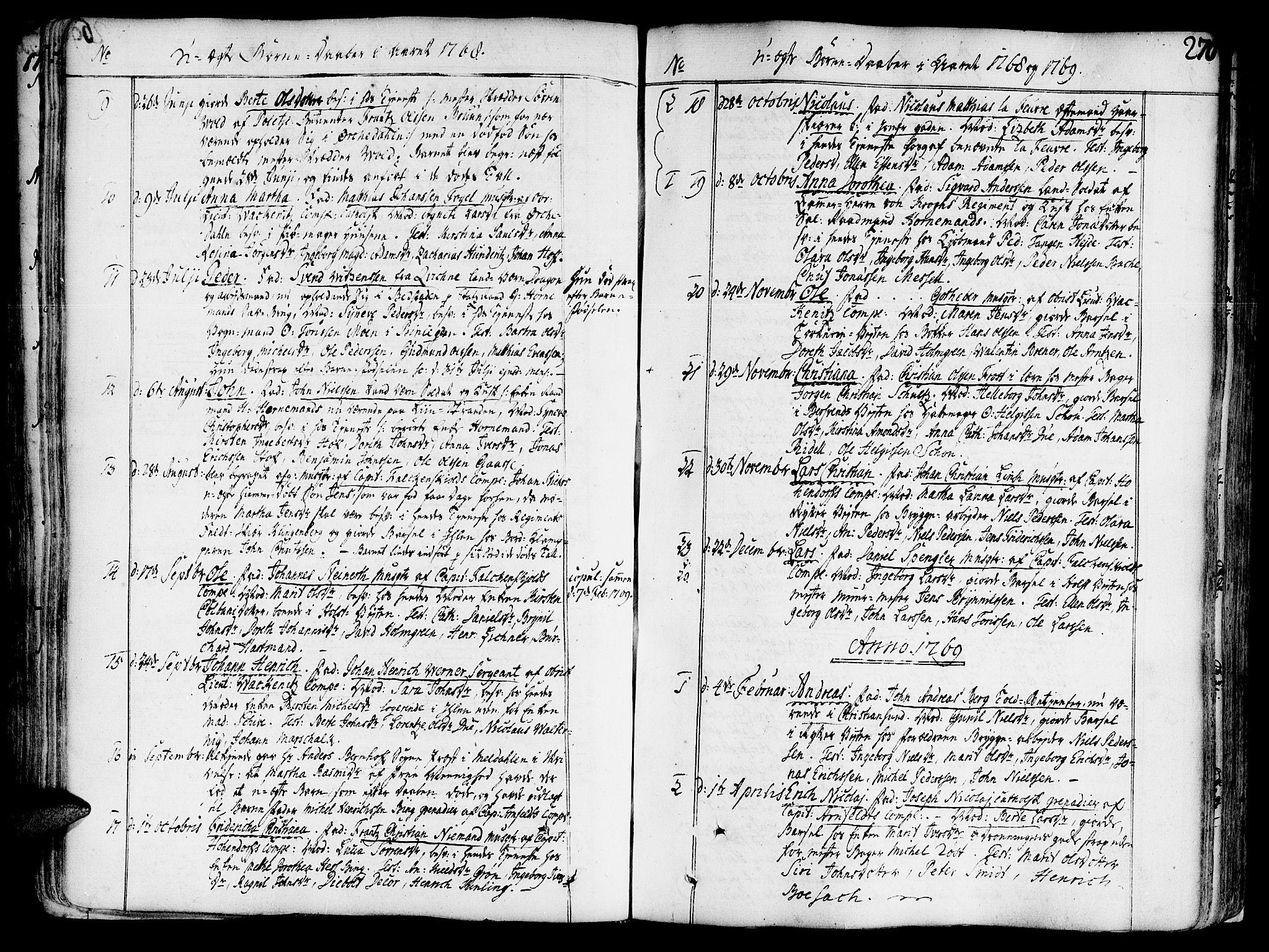 SAT, Ministerialprotokoller, klokkerbøker og fødselsregistre - Sør-Trøndelag, 602/L0103: Ministerialbok nr. 602A01, 1732-1774, s. 270
