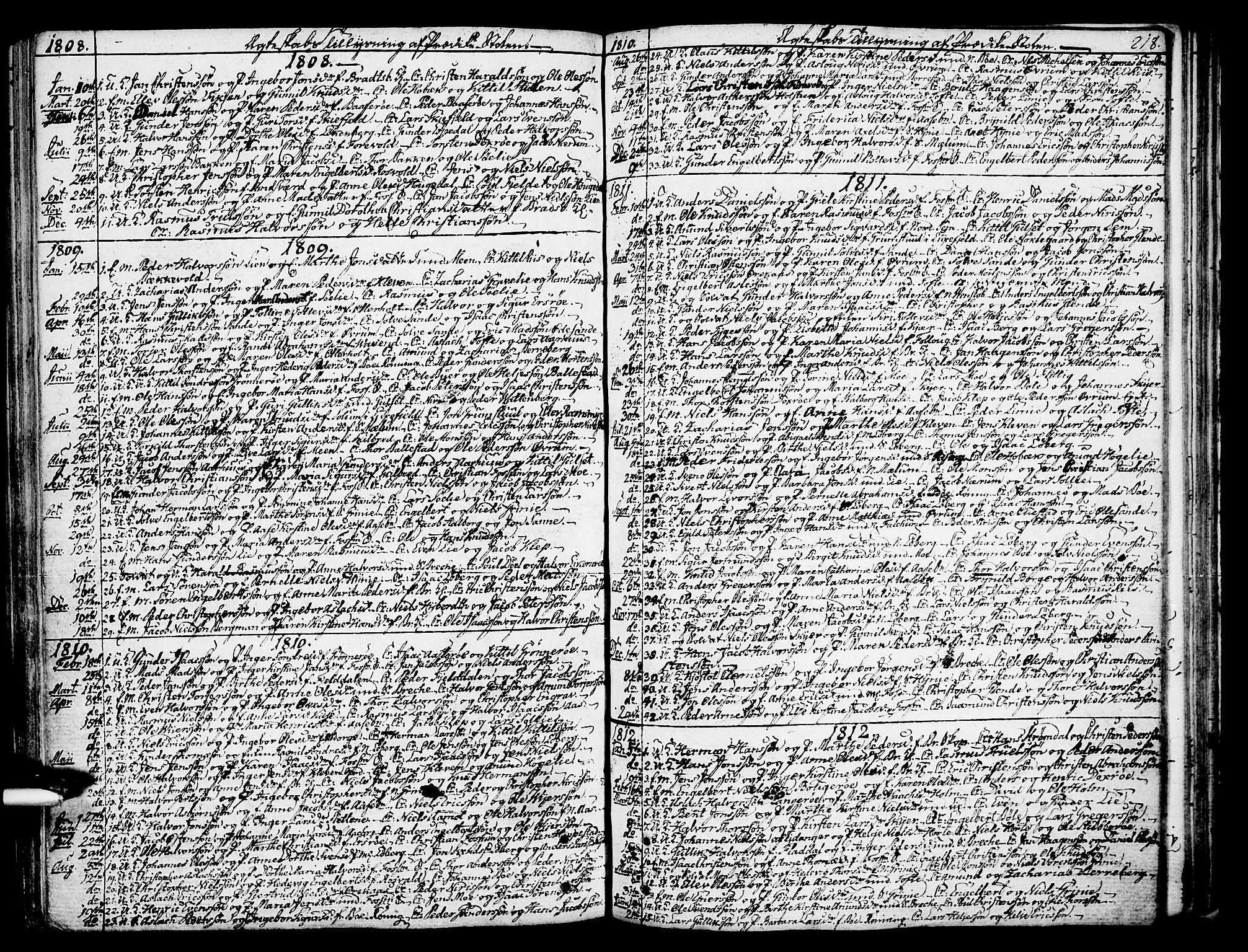 SAKO, Gjerpen kirkebøker, F/Fa/L0003: Ministerialbok nr. 3, 1796-1814, s. 218