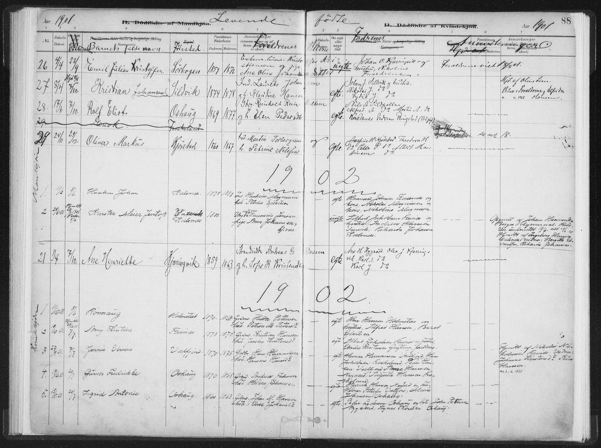 SAT, Ministerialprotokoller, klokkerbøker og fødselsregistre - Nordland, 890/L1286: Ministerialbok nr. 890A01, 1882-1902, s. 88