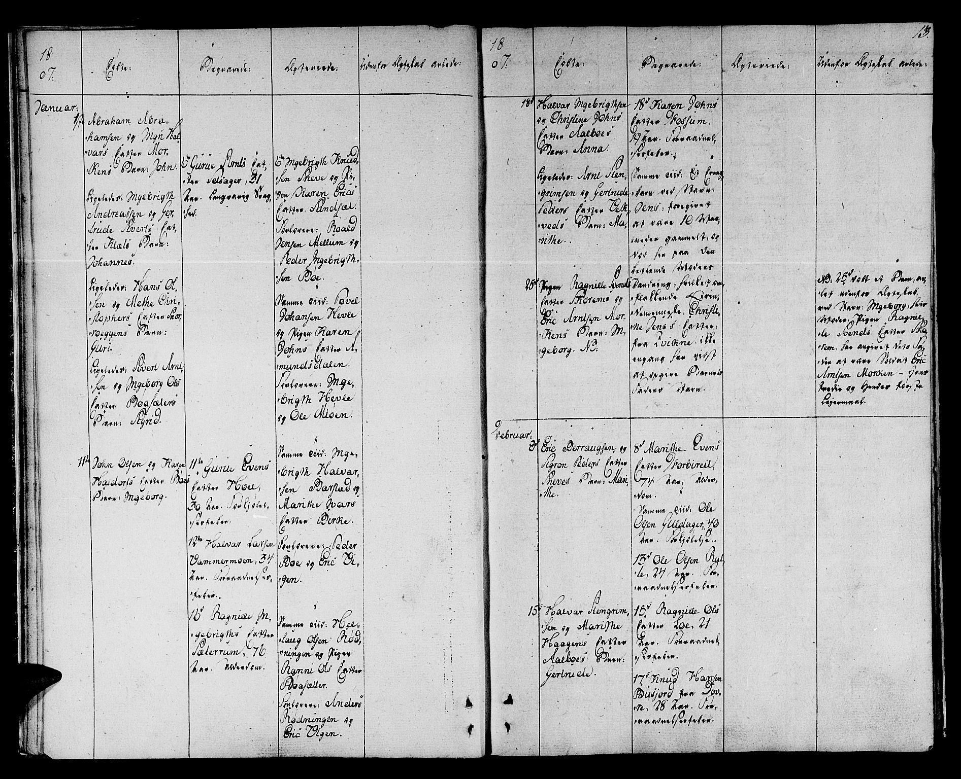 SAT, Ministerialprotokoller, klokkerbøker og fødselsregistre - Sør-Trøndelag, 678/L0894: Ministerialbok nr. 678A04, 1806-1815, s. 13