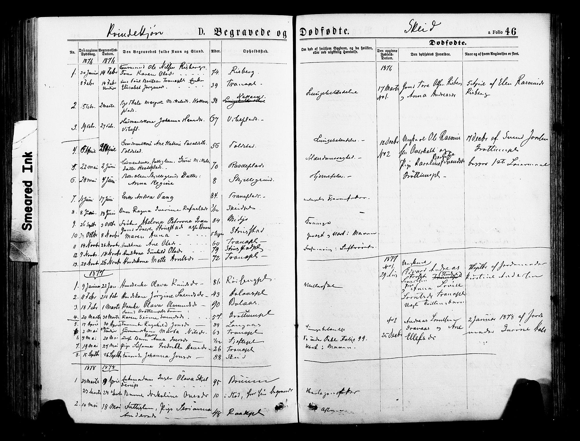 SAT, Ministerialprotokoller, klokkerbøker og fødselsregistre - Nord-Trøndelag, 735/L0348: Ministerialbok nr. 735A09 /2, 1873-1883, s. 46