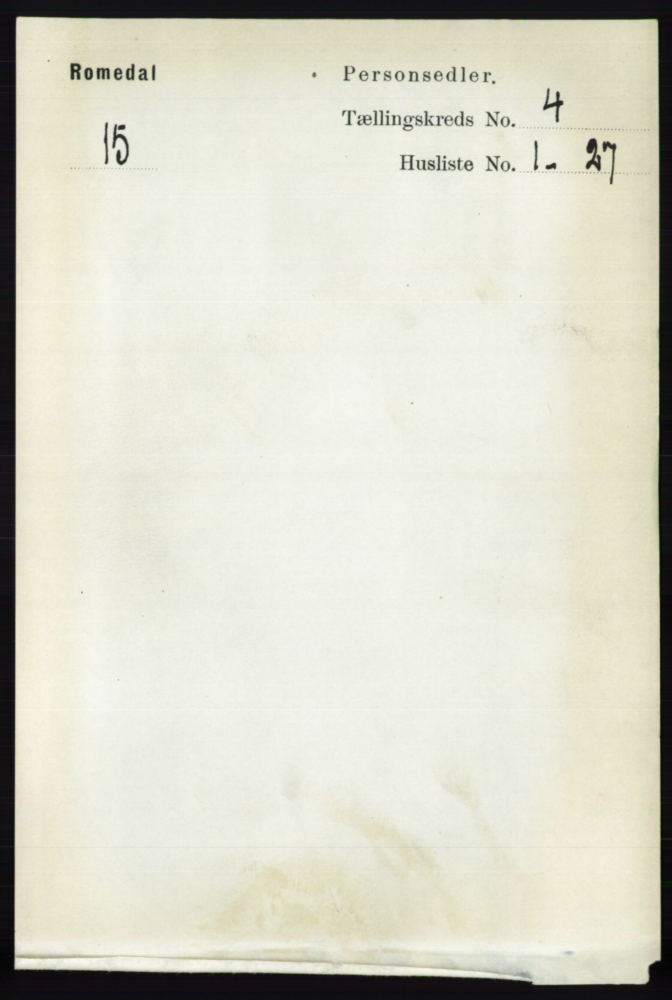 RA, Folketelling 1891 for 0416 Romedal herred, 1891, s. 1967