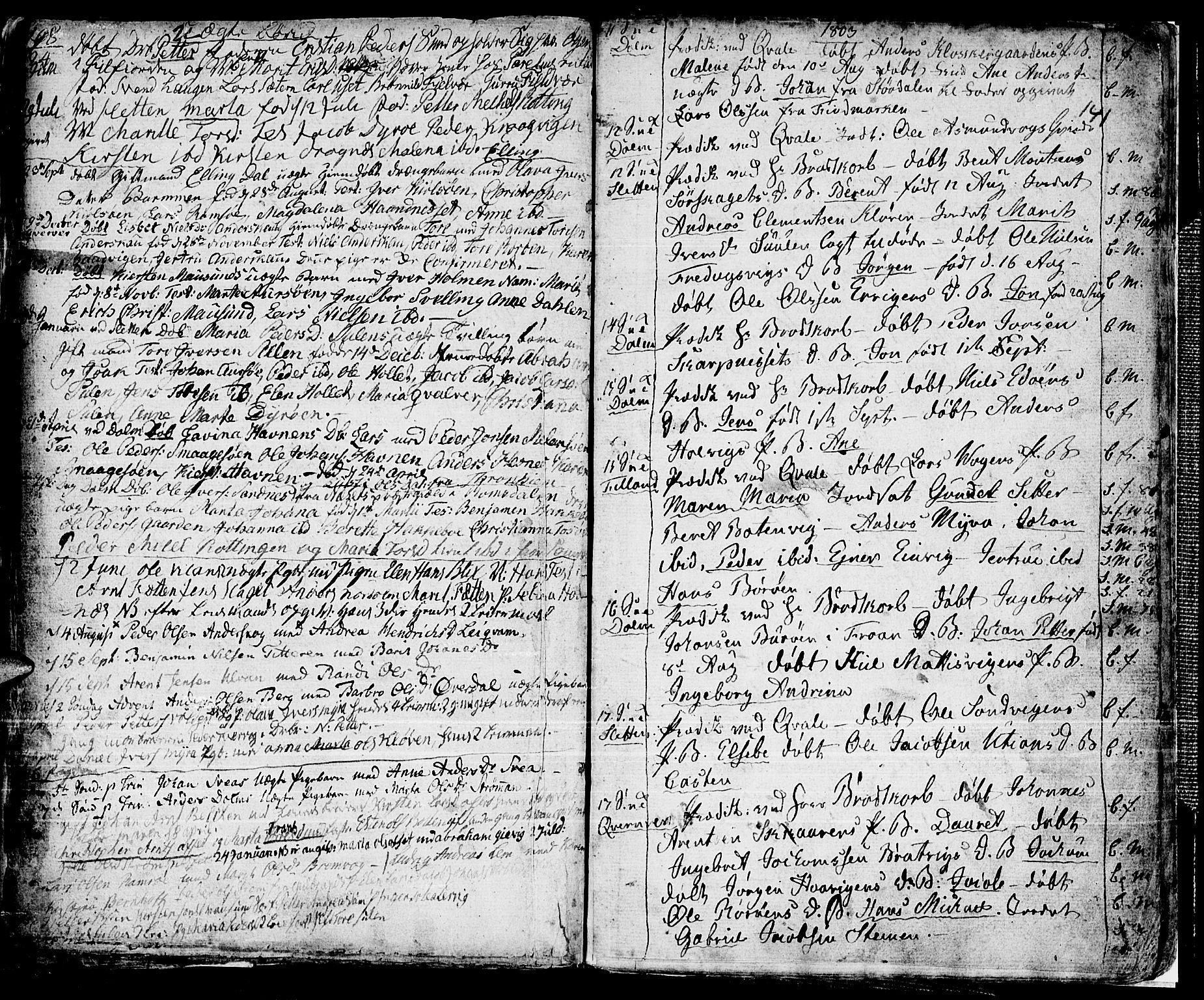 SAT, Ministerialprotokoller, klokkerbøker og fødselsregistre - Sør-Trøndelag, 634/L0526: Ministerialbok nr. 634A02, 1775-1818, s. 141