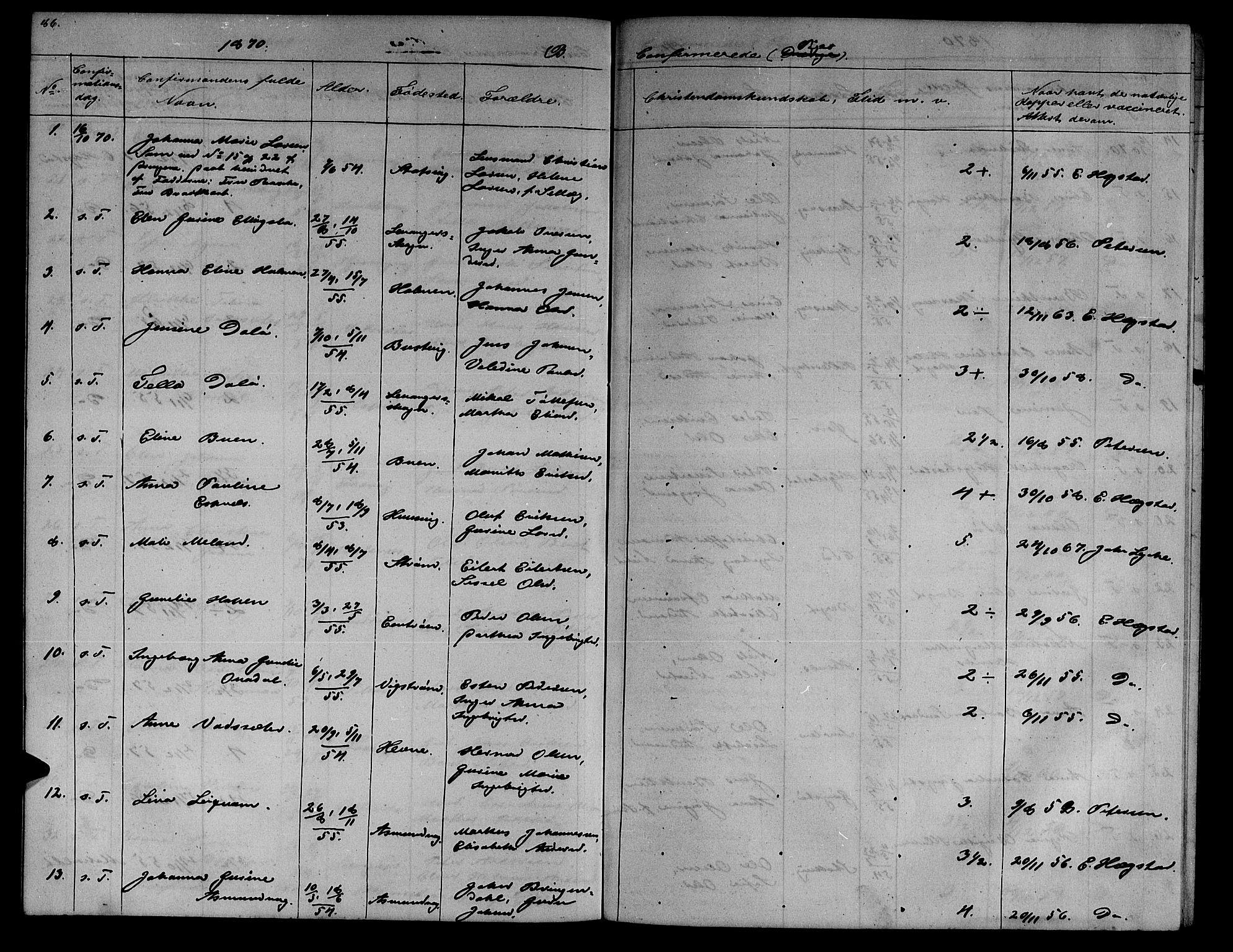 SAT, Ministerialprotokoller, klokkerbøker og fødselsregistre - Sør-Trøndelag, 634/L0539: Klokkerbok nr. 634C01, 1866-1873, s. 86