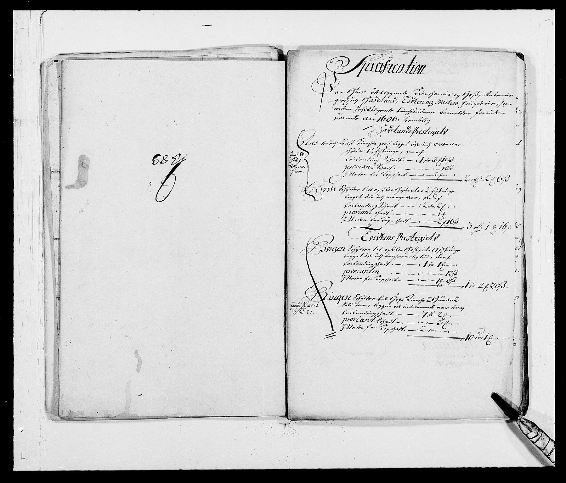 RA, Rentekammeret inntil 1814, Reviderte regnskaper, Fogderegnskap, R18/L1285: Fogderegnskap Hadeland, Toten og Valdres, 1686, s. 301