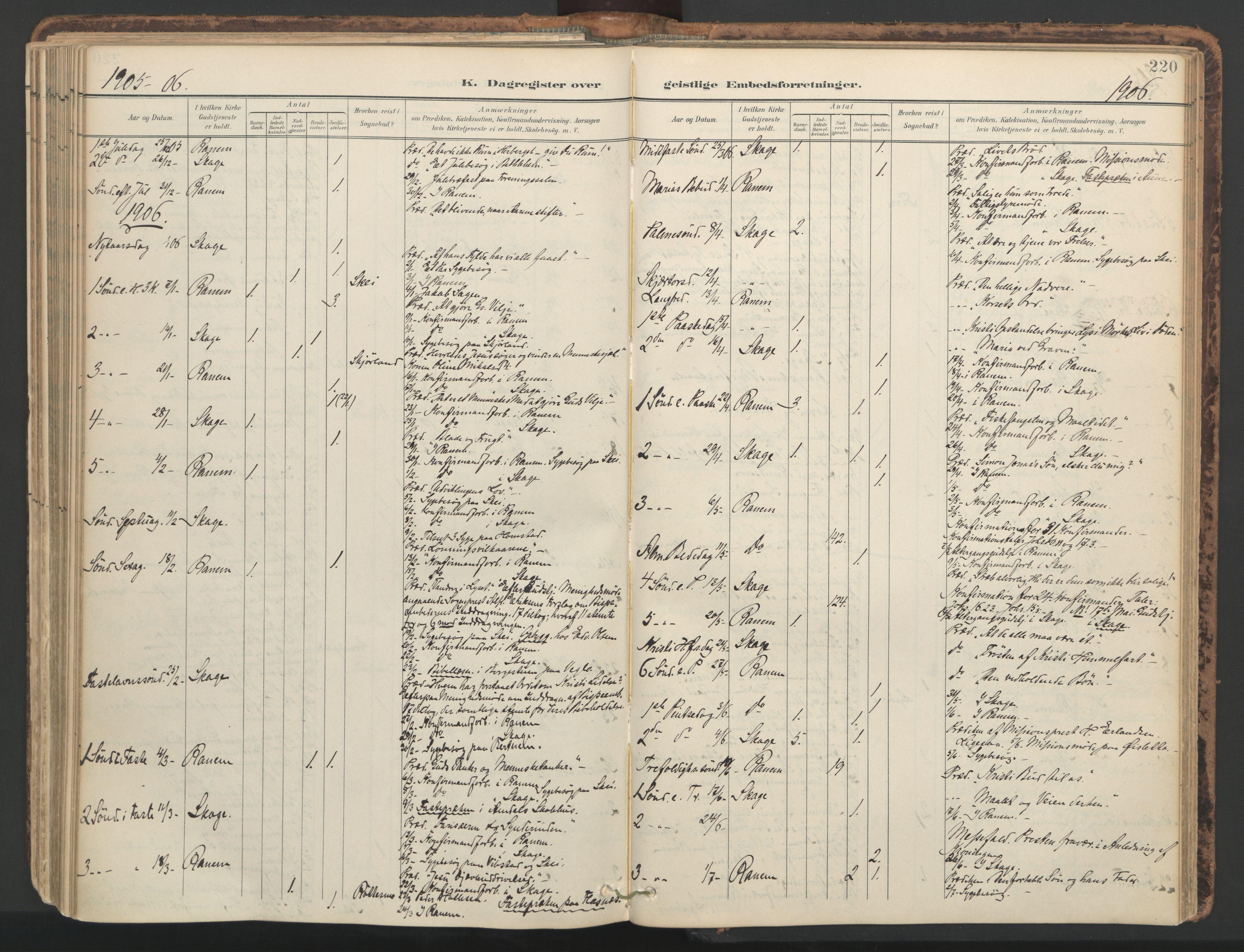 SAT, Ministerialprotokoller, klokkerbøker og fødselsregistre - Nord-Trøndelag, 764/L0556: Ministerialbok nr. 764A11, 1897-1924, s. 220