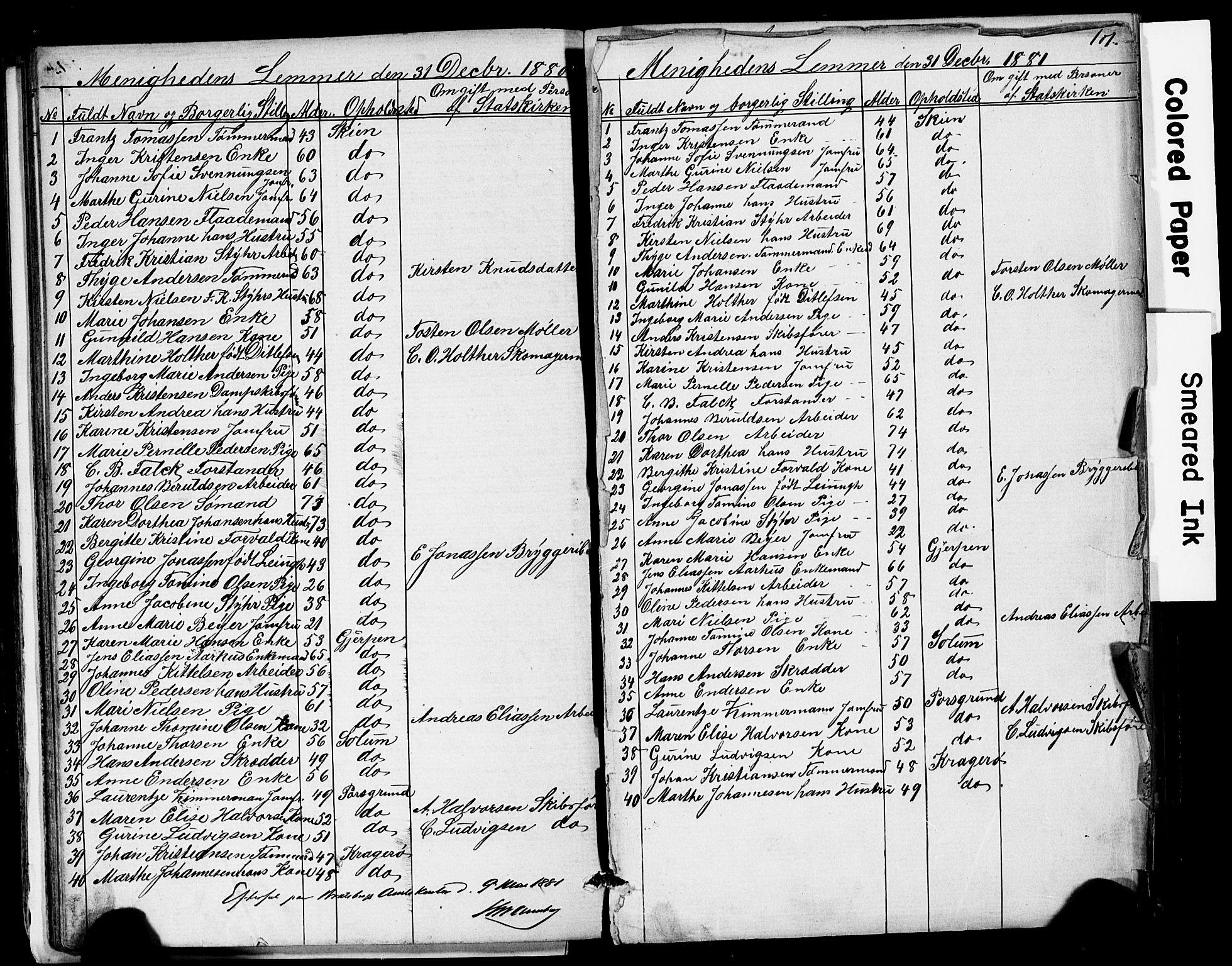 SAKO, Den frie apostolisk-kristelige menighet i Skien, F/Fa/L0001: Dissenterprotokoll nr. 1, 1856-1892, s. 101