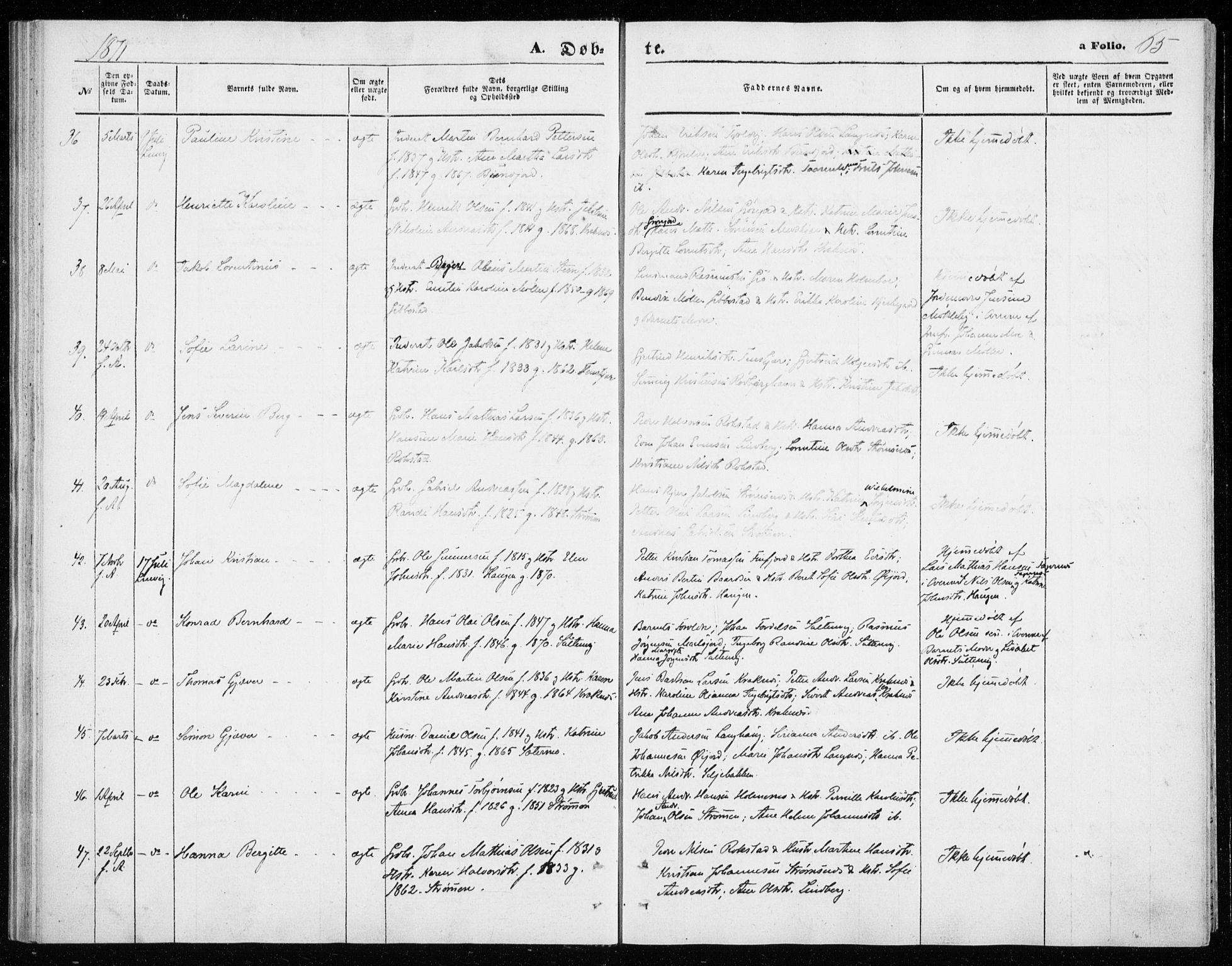 SATØ, Lenvik sokneprestembete, H/Ha/Haa/L0009kirke: Ministerialbok nr. 9, 1866-1873, s. 65