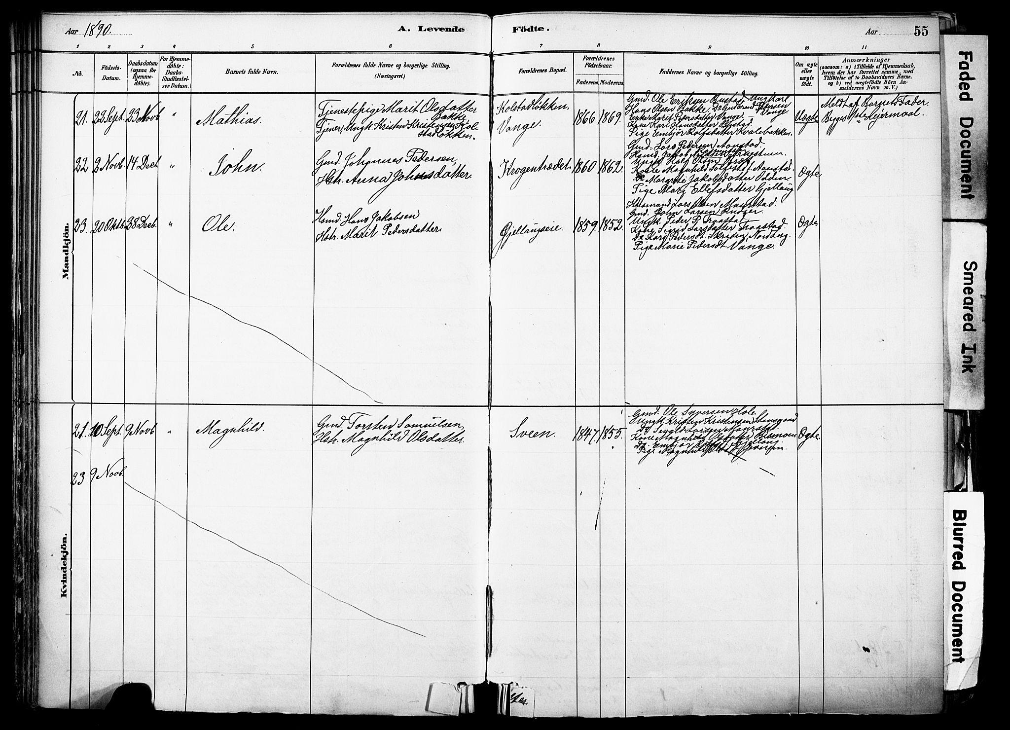 SAH, Skjåk prestekontor, Ministerialbok nr. 3, 1880-1907, s. 55