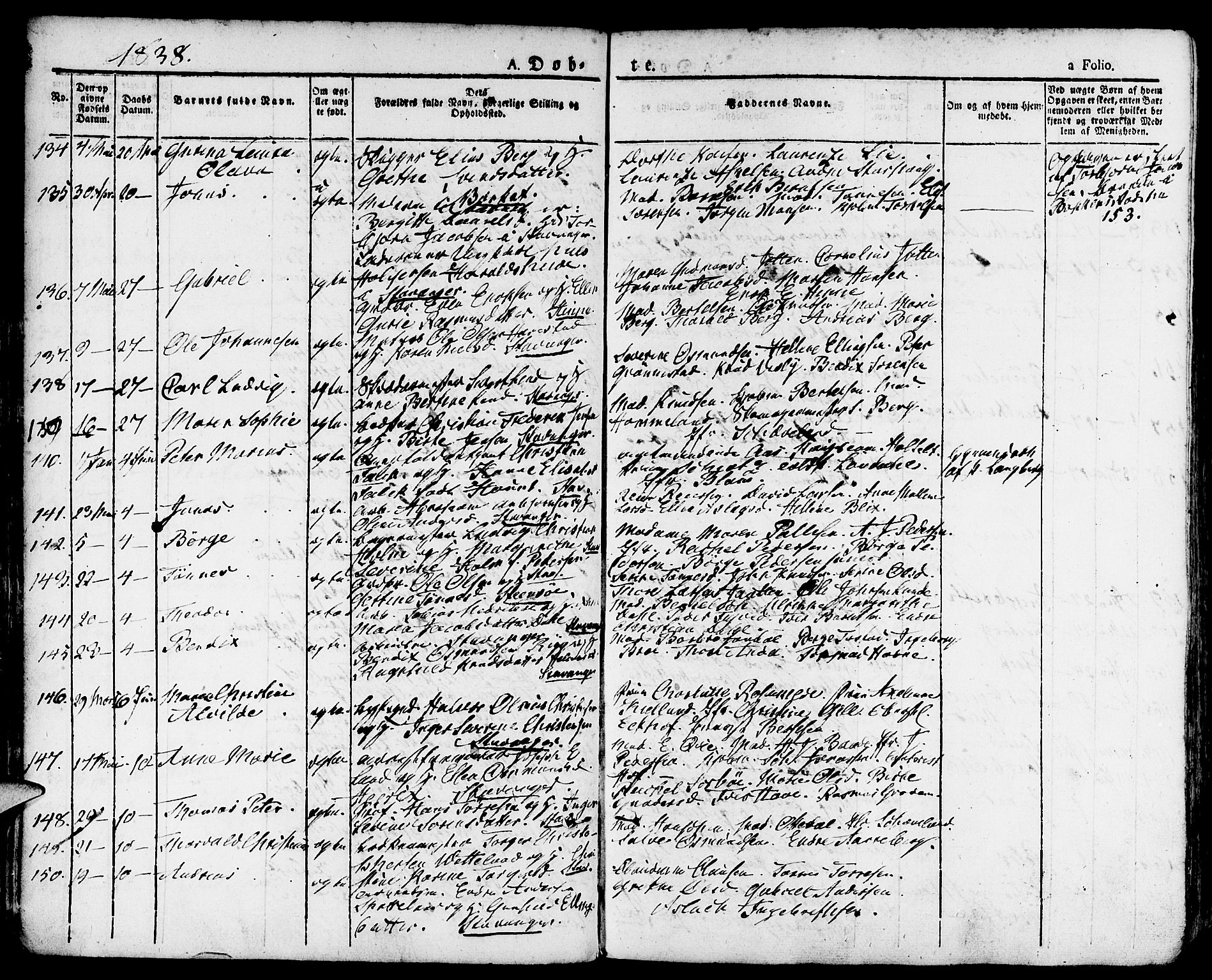 SAST, Domkirken sokneprestkontor, 30/30BA/L0011: Ministerialbok nr. A 11, 1832-1856