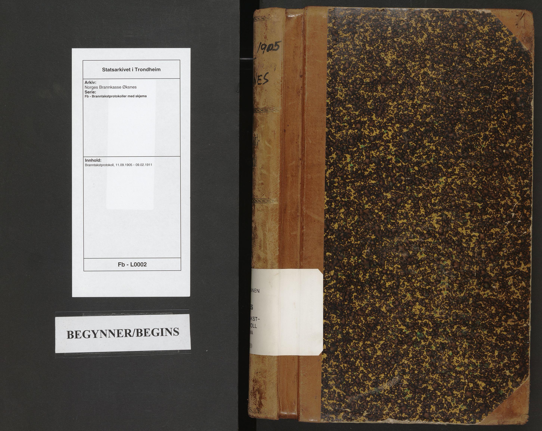 SAT, Norges Brannkasse Øksnes, Fb/L0002: Branntakstprotokoll, 1905-1911