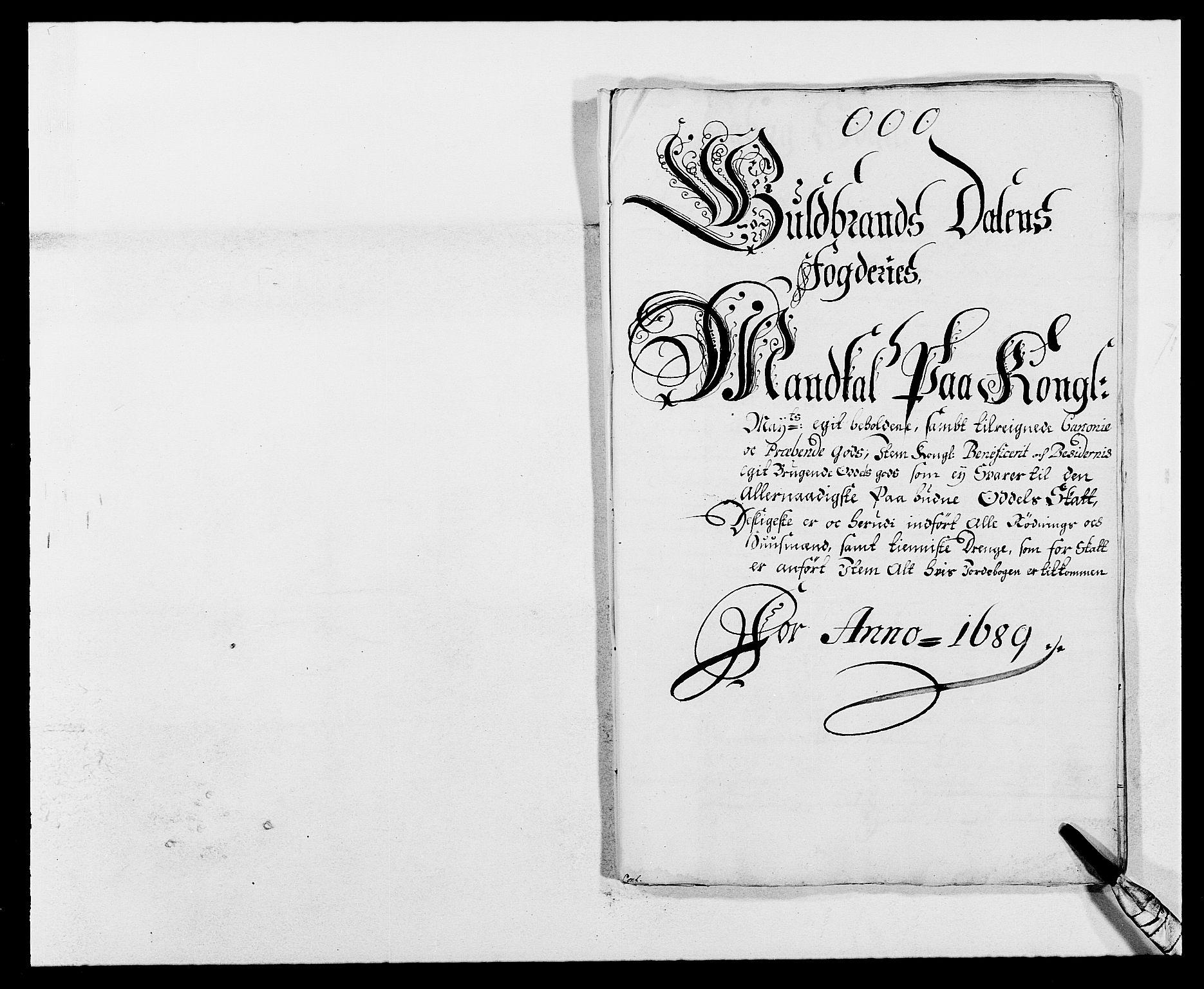 RA, Rentekammeret inntil 1814, Reviderte regnskaper, Fogderegnskap, R17/L1164: Fogderegnskap Gudbrandsdal, 1682-1689, s. 90