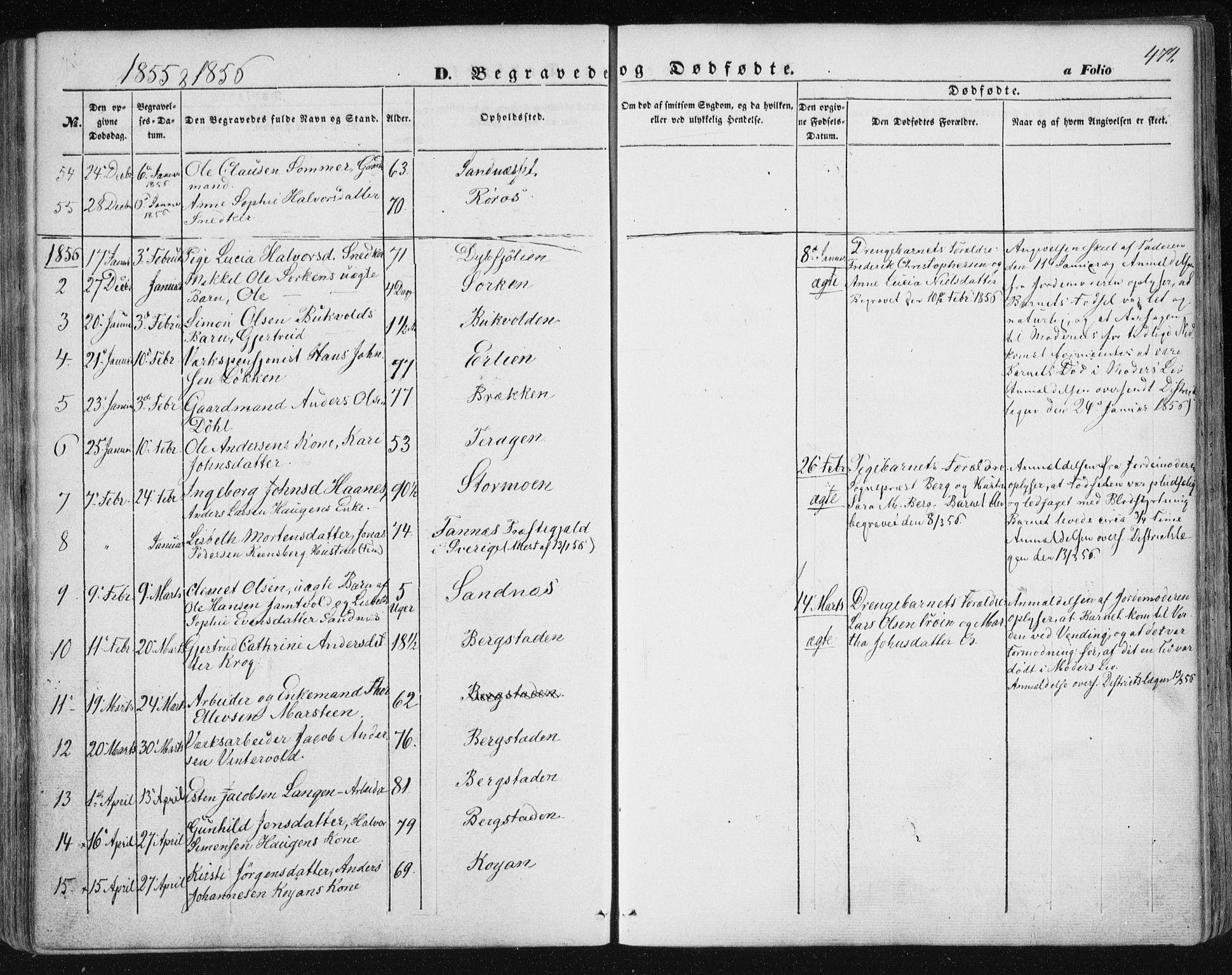 SAT, Ministerialprotokoller, klokkerbøker og fødselsregistre - Sør-Trøndelag, 681/L0931: Ministerialbok nr. 681A09, 1845-1859, s. 474