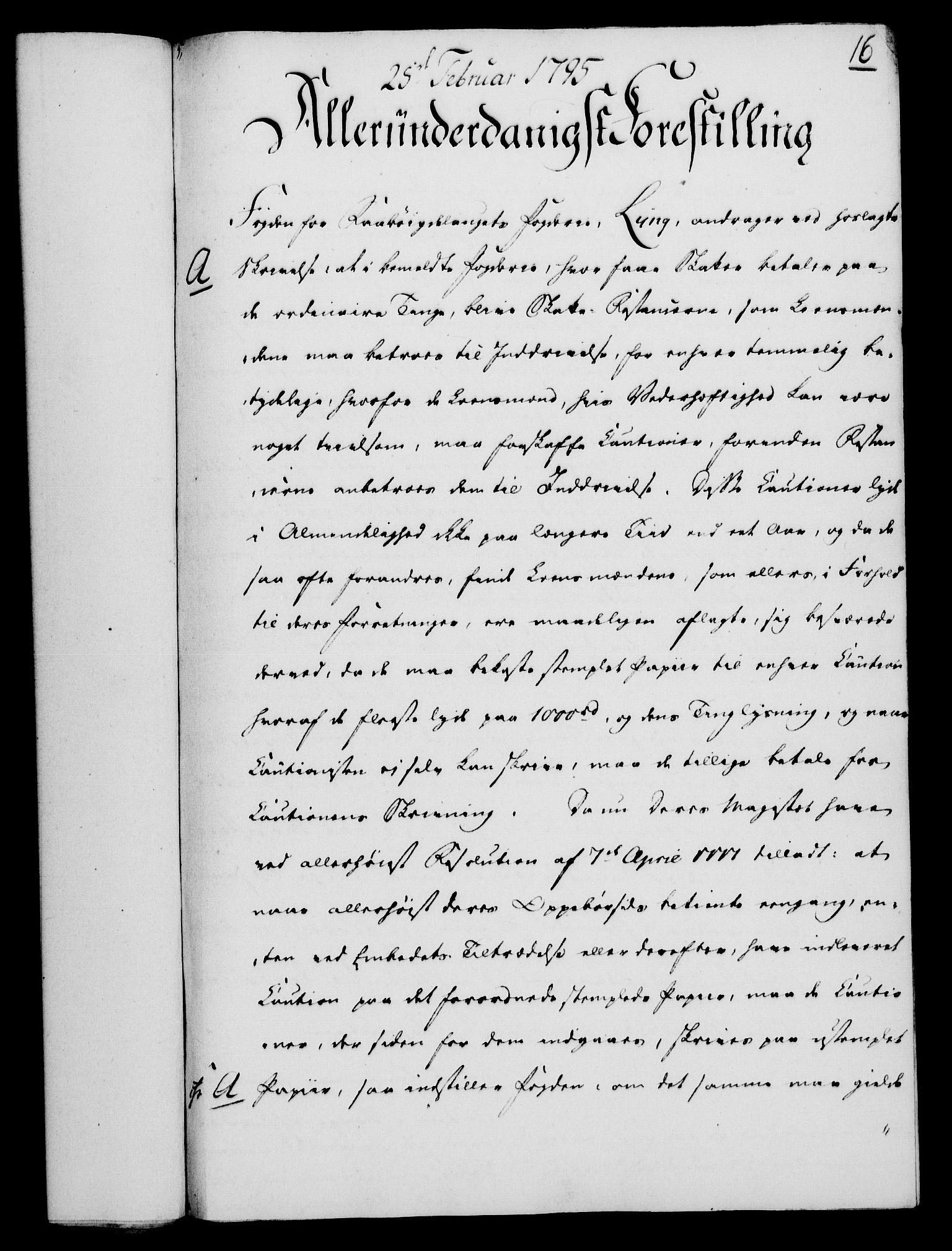 RA, Rentekammeret, Kammerkanselliet, G/Gf/Gfa/L0077: Norsk relasjons- og resolusjonsprotokoll (merket RK 52.77), 1795, s. 113