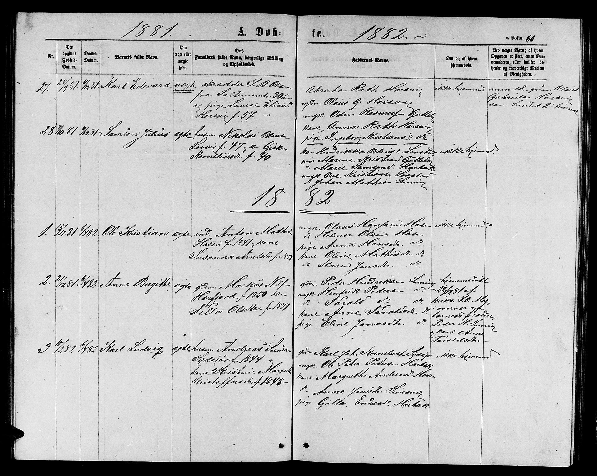 SAT, Ministerialprotokoller, klokkerbøker og fødselsregistre - Sør-Trøndelag, 656/L0695: Klokkerbok nr. 656C01, 1867-1889, s. 60