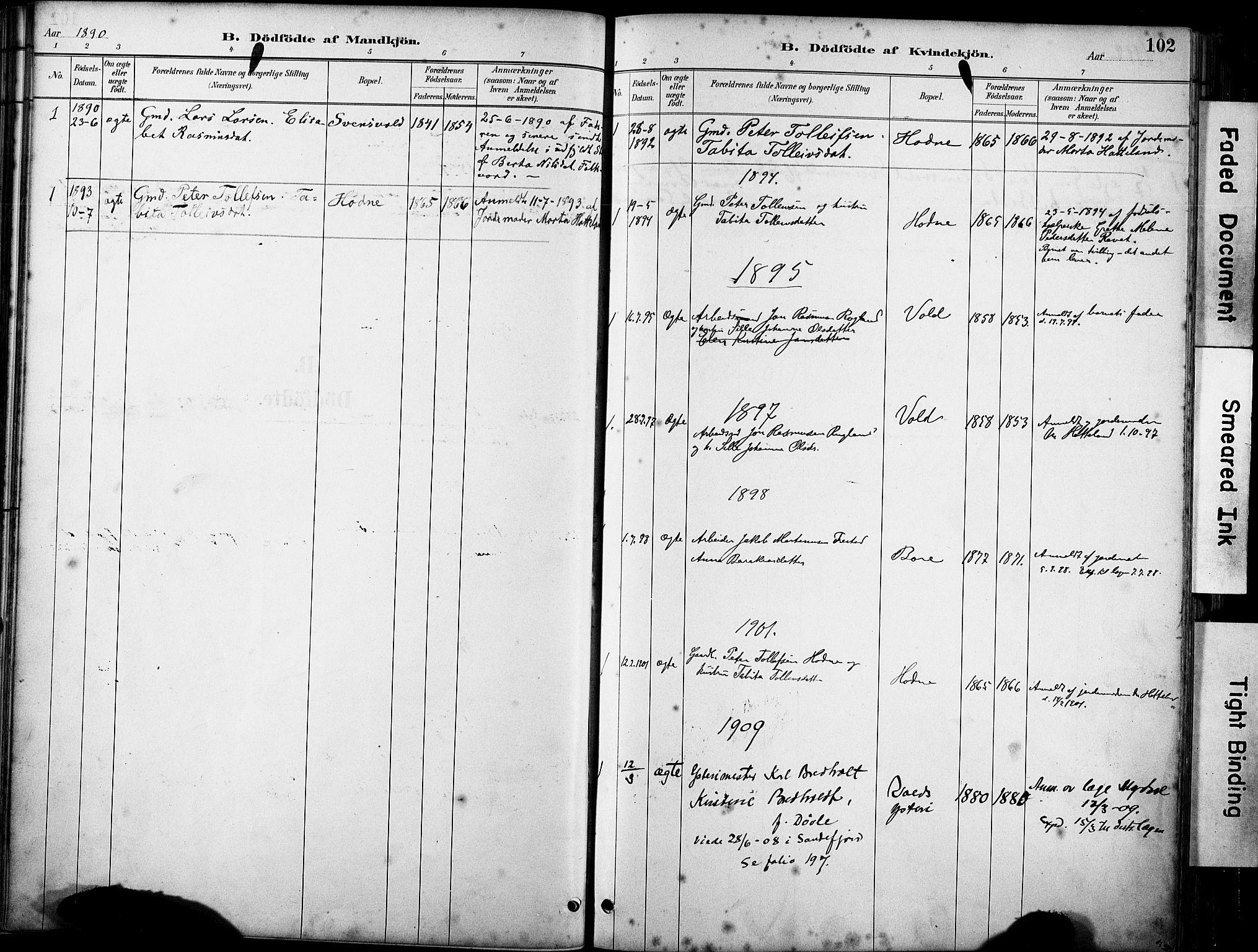 SAST, Klepp sokneprestkontor, 3/30BA/L0008: Ministerialbok nr. A 9, 1886-1919, s. 102