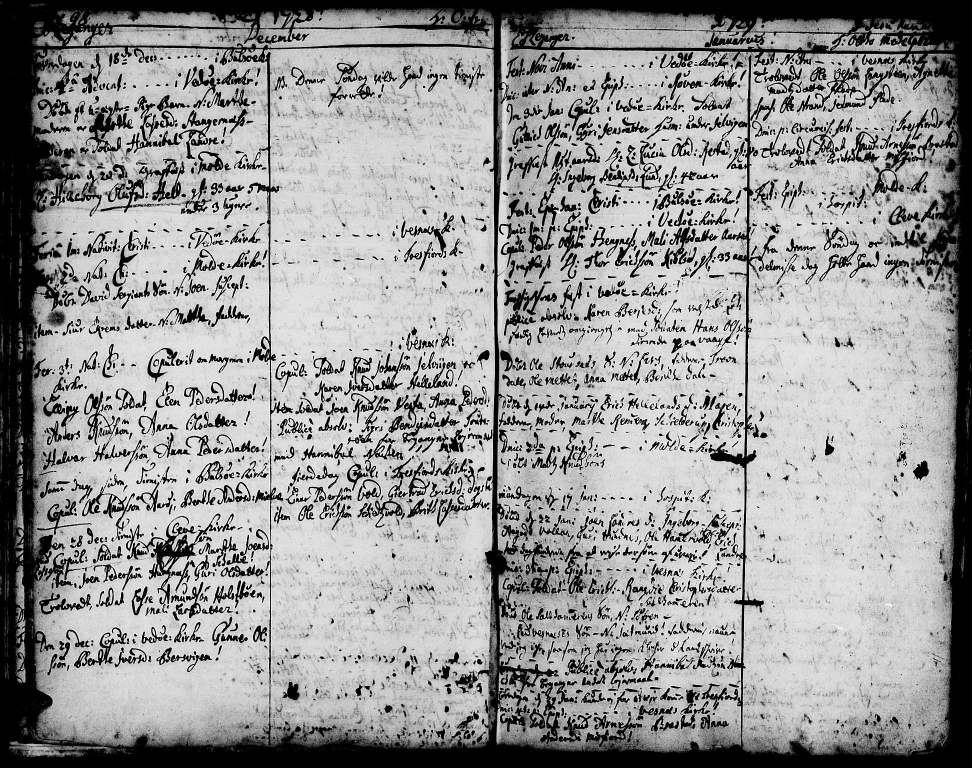 SAT, Ministerialprotokoller, klokkerbøker og fødselsregistre - Møre og Romsdal, 547/L0599: Ministerialbok nr. 547A01, 1721-1764, s. 100-101