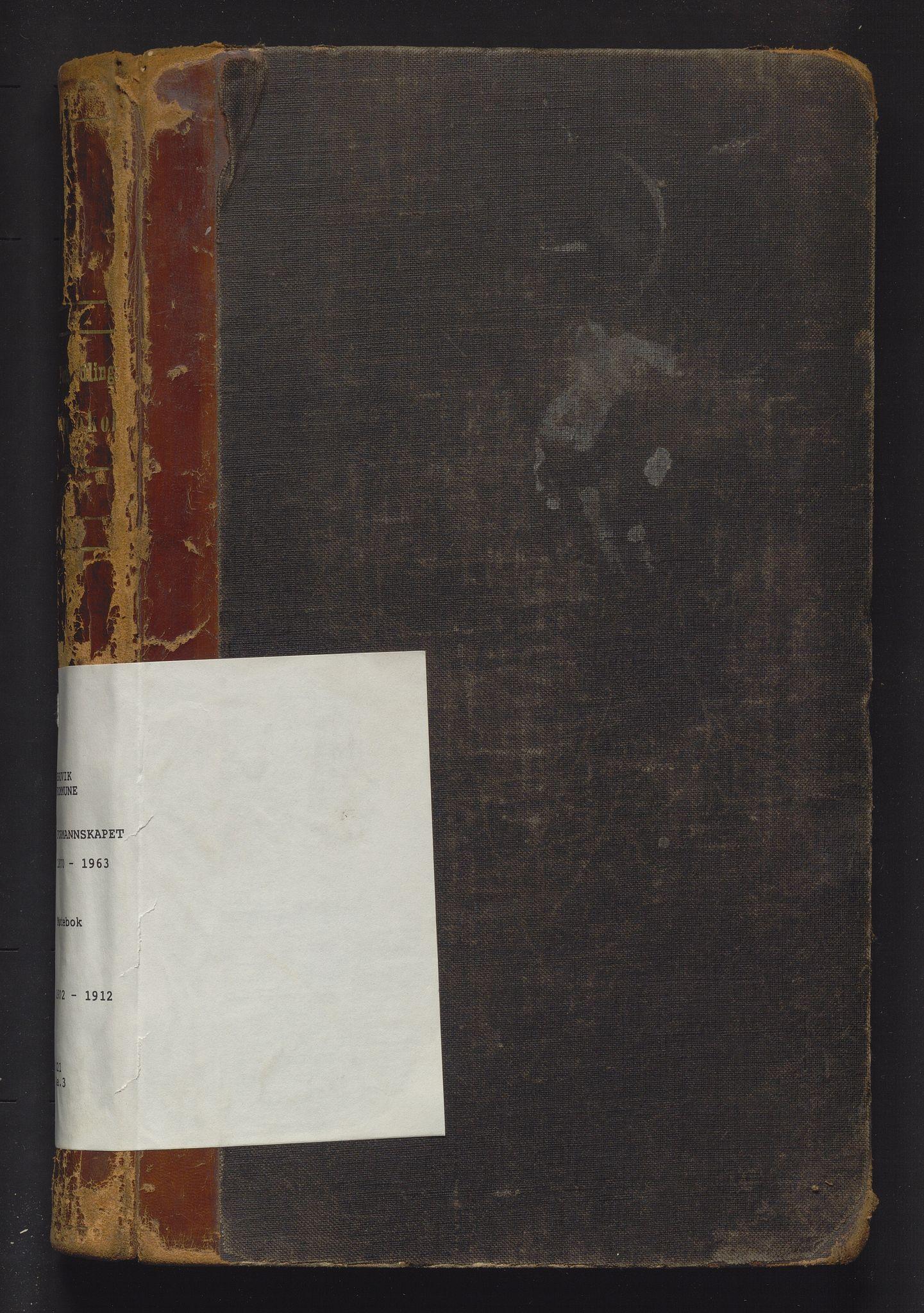 IKAH, Bruvik kommune. Formannskapet , A/Aa/L0003: Møtebok for formannskap og heradsstyre, 1902-1912