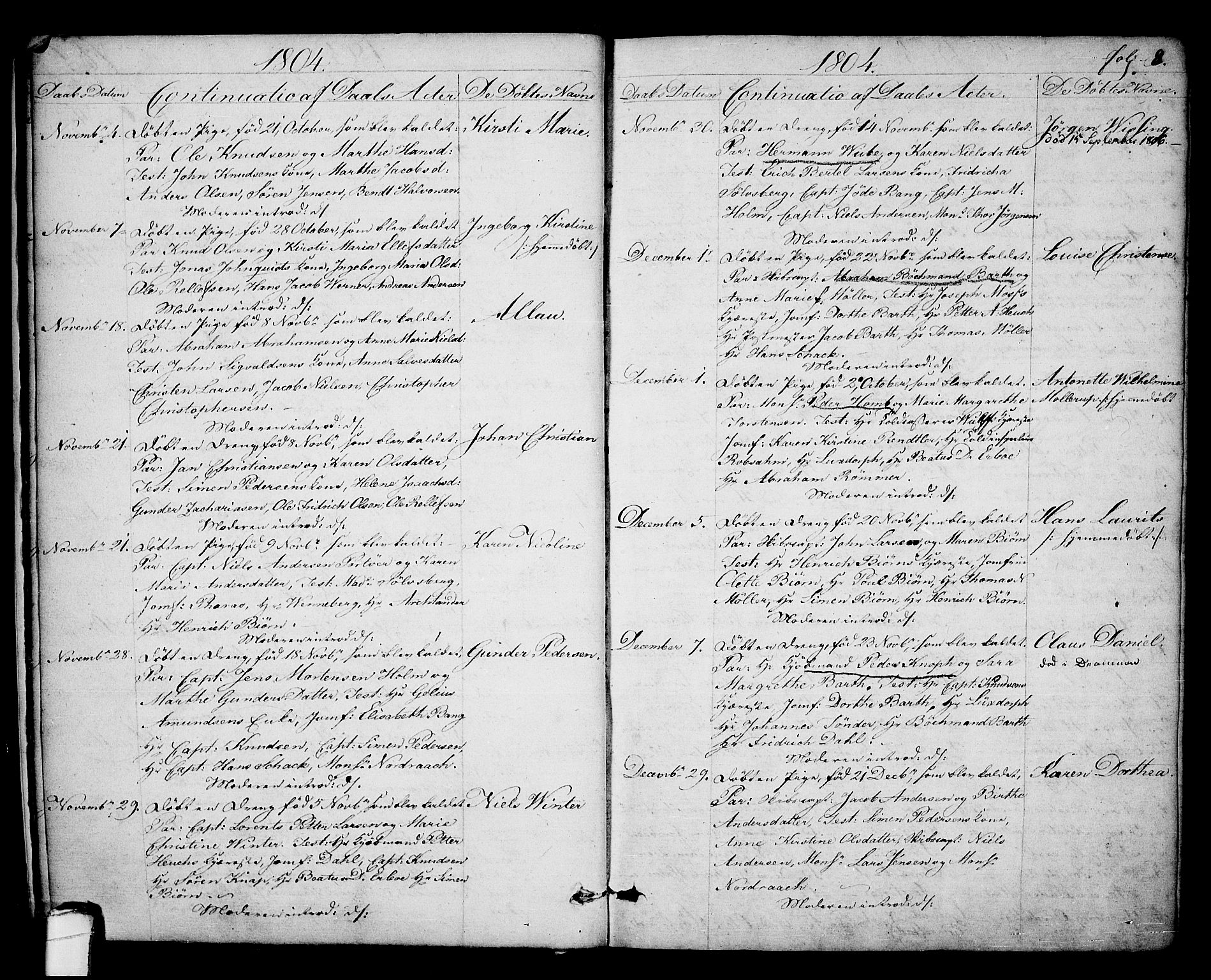 SAKO, Kragerø kirkebøker, F/Fa/L0003: Ministerialbok nr. 3, 1802-1813, s. 8