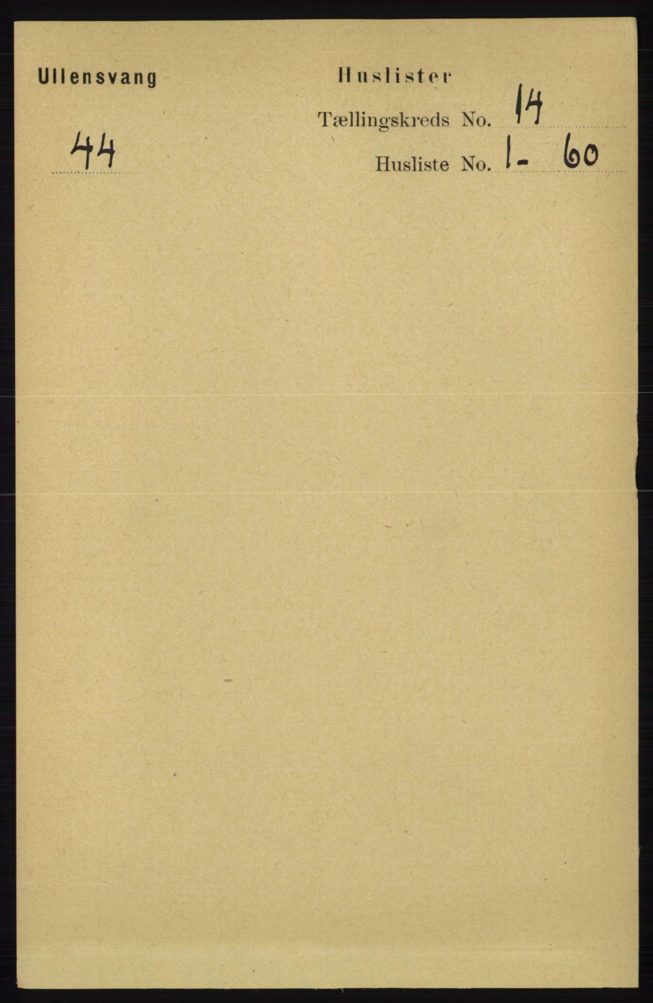 RA, Folketelling 1891 for 1230 Ullensvang herred, 1891, s. 5490
