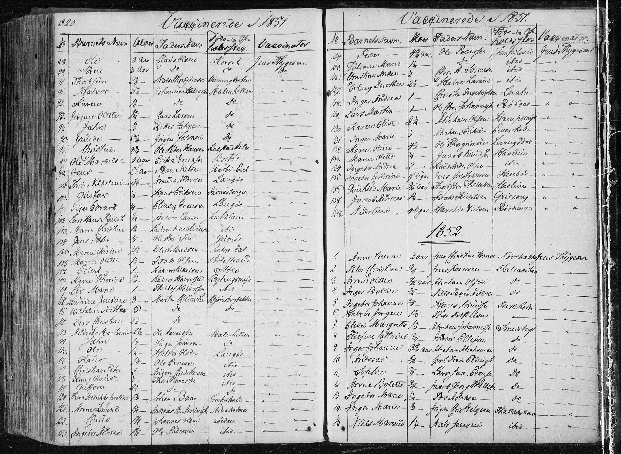 SAKO, Sannidal kirkebøker, F/Fa/L0007: Ministerialbok nr. 7, 1831-1854, s. 320