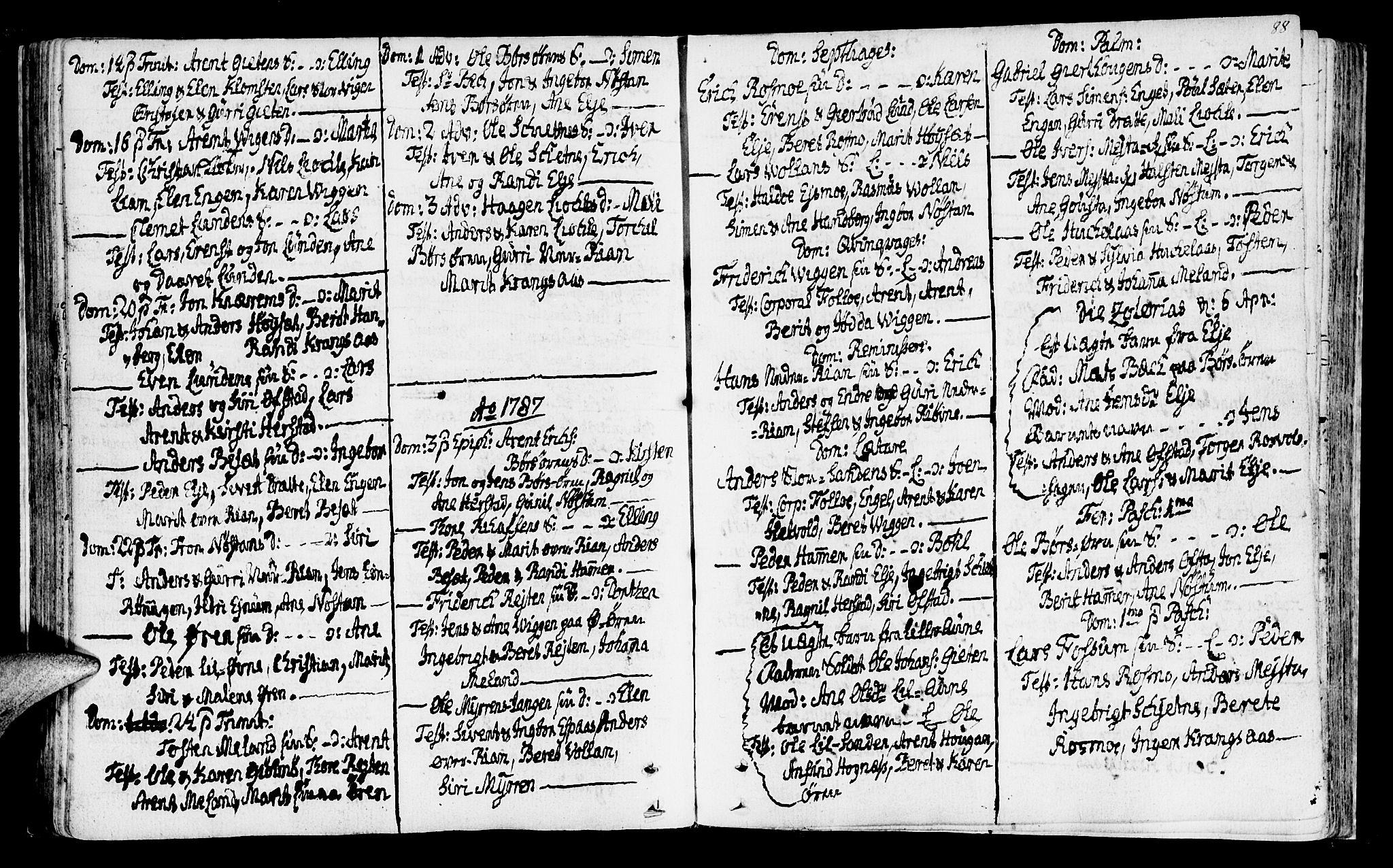 SAT, Ministerialprotokoller, klokkerbøker og fødselsregistre - Sør-Trøndelag, 665/L0768: Ministerialbok nr. 665A03, 1754-1803, s. 88