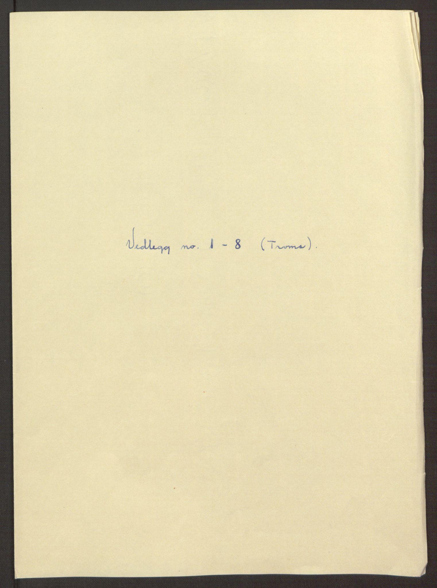 RA, Rentekammeret inntil 1814, Reviderte regnskaper, Fogderegnskap, R68/L4753: Fogderegnskap Senja og Troms, 1694-1696, s. 347