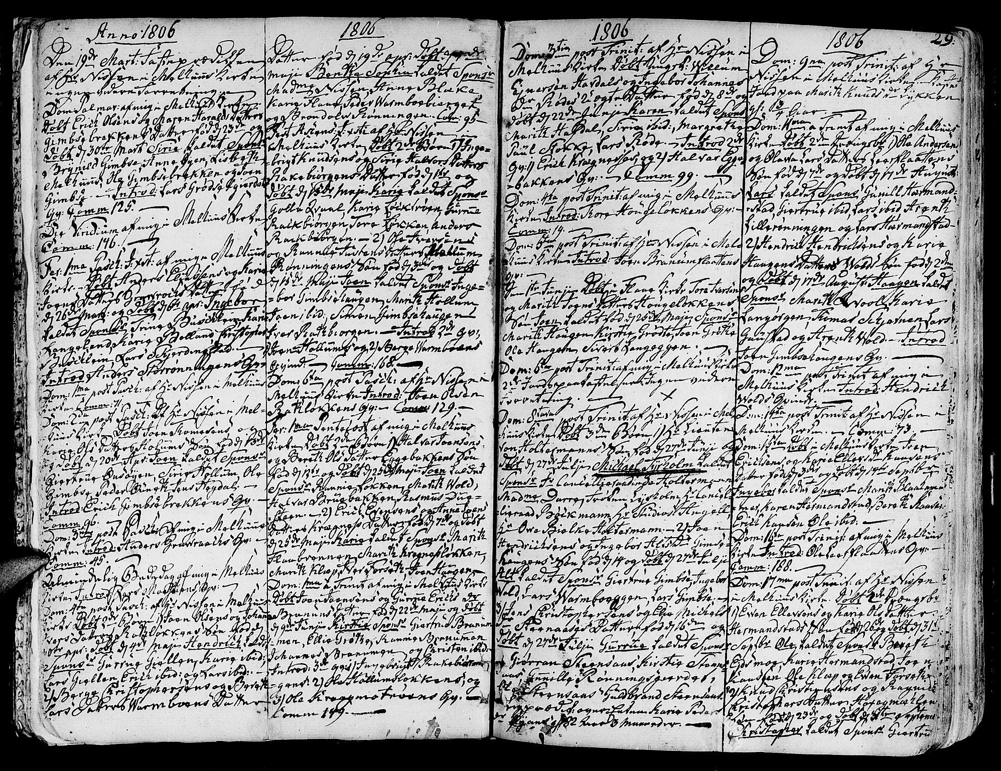 SAT, Ministerialprotokoller, klokkerbøker og fødselsregistre - Sør-Trøndelag, 691/L1061: Ministerialbok nr. 691A02 /1, 1768-1815, s. 29