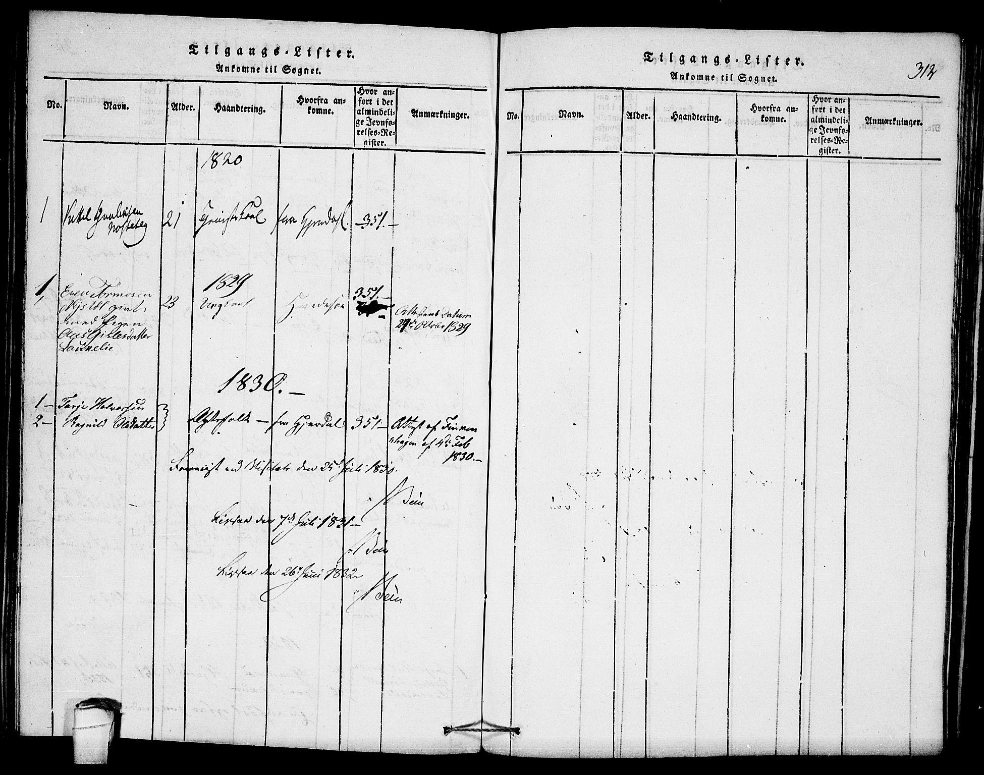 SAKO, Seljord kirkebøker, F/Fb/L0001: Ministerialbok nr. II 1, 1815-1831, s. 312