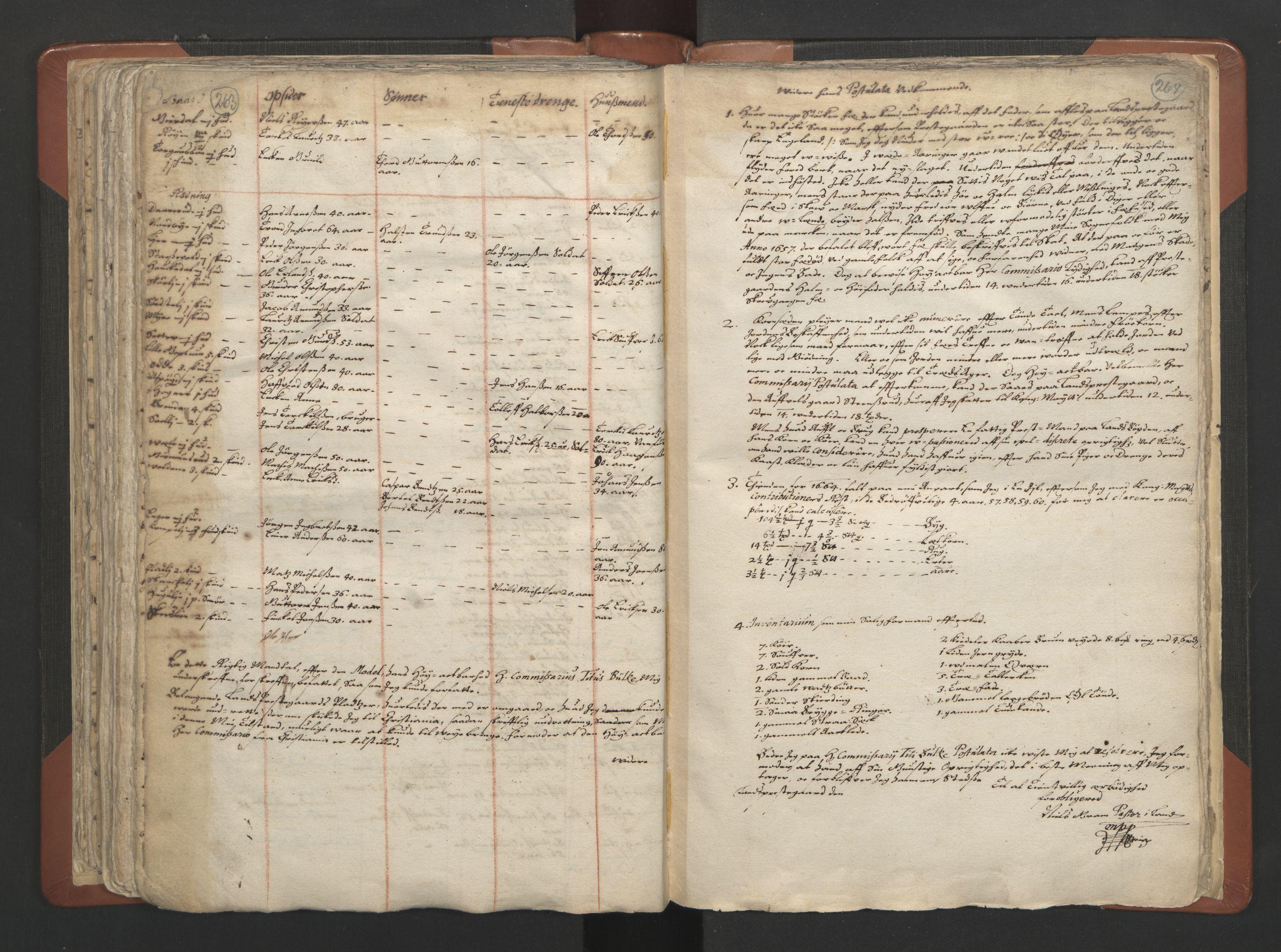 RA, Sogneprestenes manntall 1664-1666, nr. 7: Hadeland prosti, 1664-1666, s. 263-264