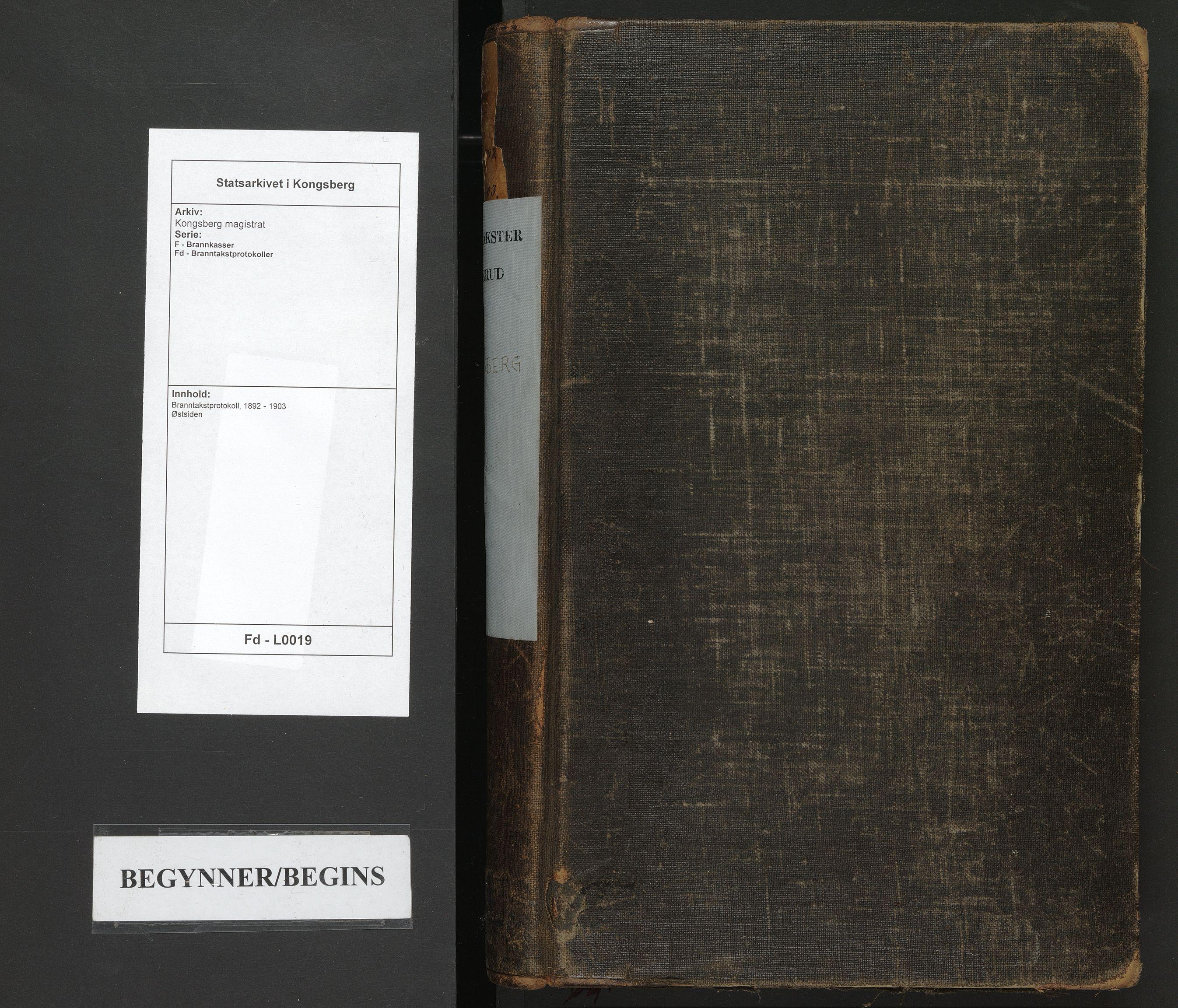 SAKO, Kongsberg magistrat, F/Fd/L0019: Branntakstprotokoll, 1892-1903