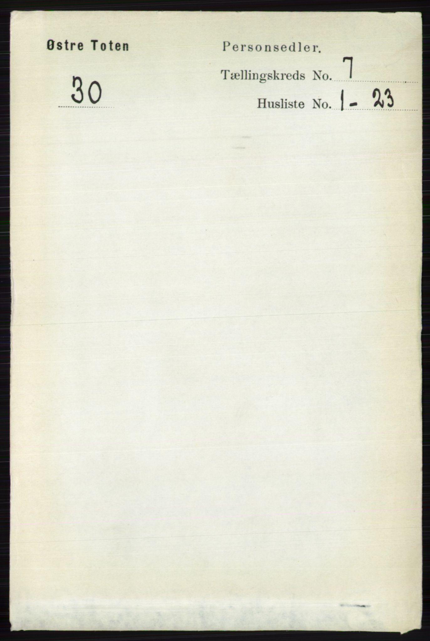 RA, Folketelling 1891 for 0528 Østre Toten herred, 1891, s. 4438