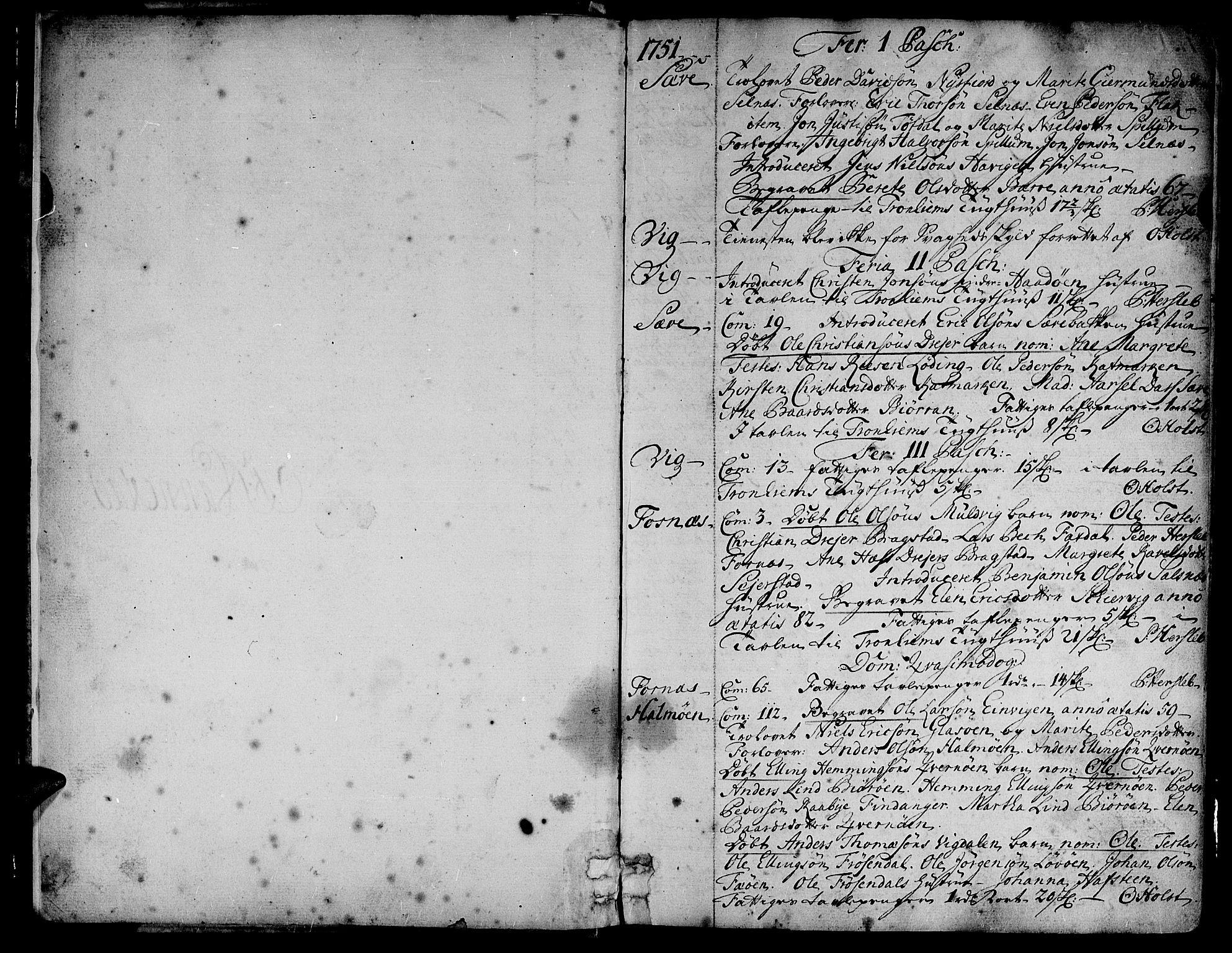 SAT, Ministerialprotokoller, klokkerbøker og fødselsregistre - Nord-Trøndelag, 773/L0607: Ministerialbok nr. 773A01, 1751-1783, s. 2-3