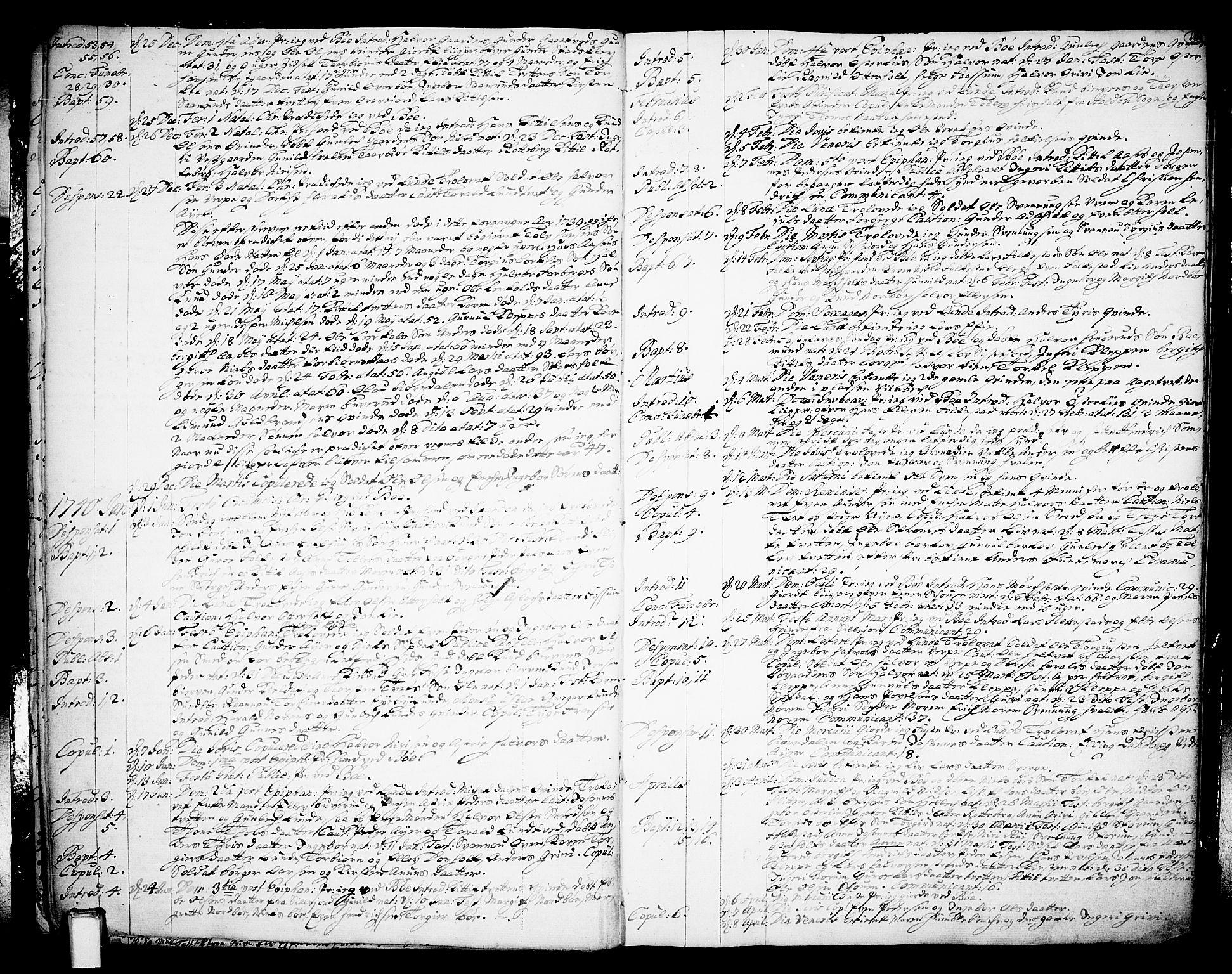 SAKO, Bø kirkebøker, F/Fa/L0003: Ministerialbok nr. 3, 1733-1748, s. 18