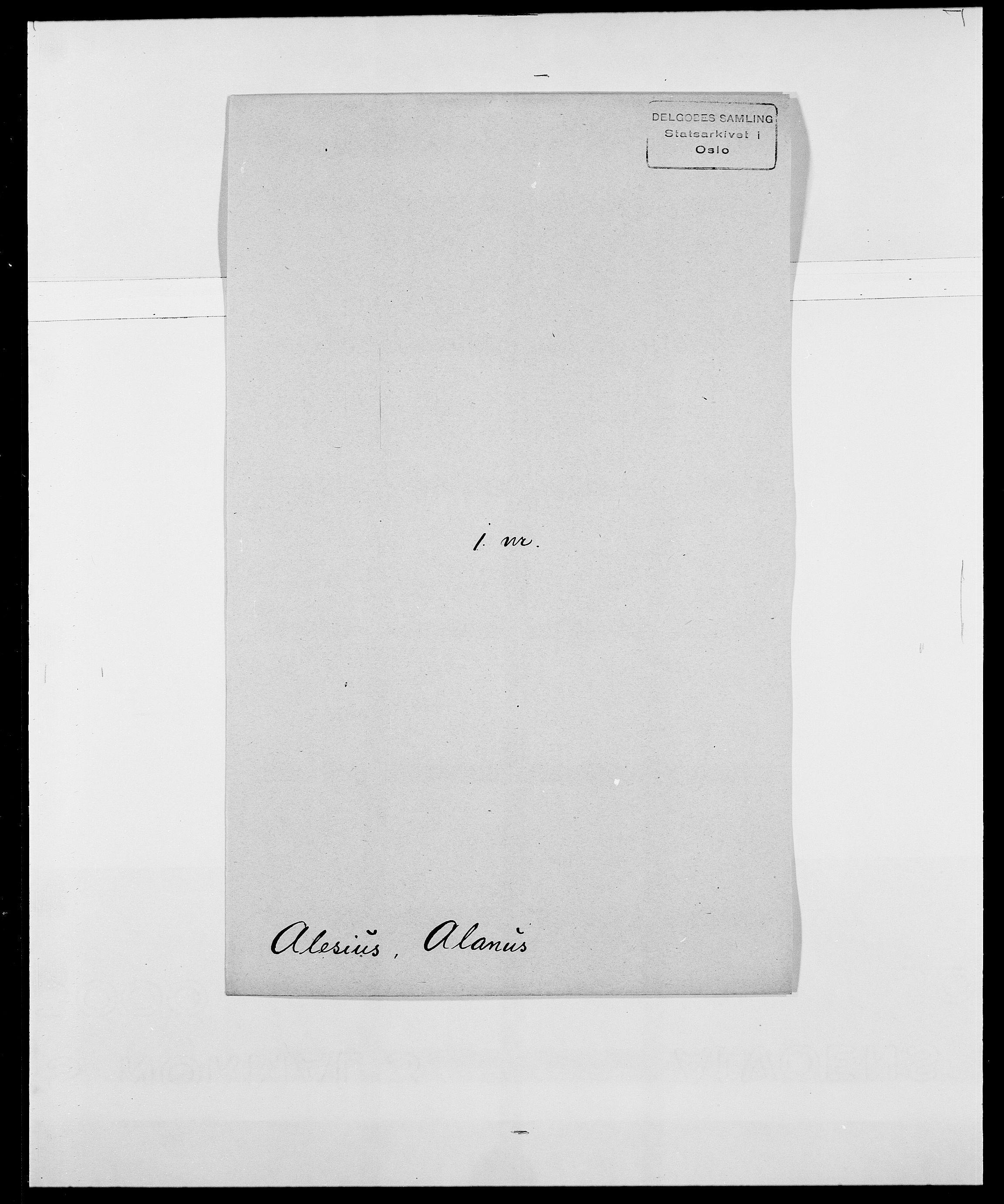 SAO, Delgobe, Charles Antoine - samling, D/Da/L0001: Aabye - Angerman, s. 388