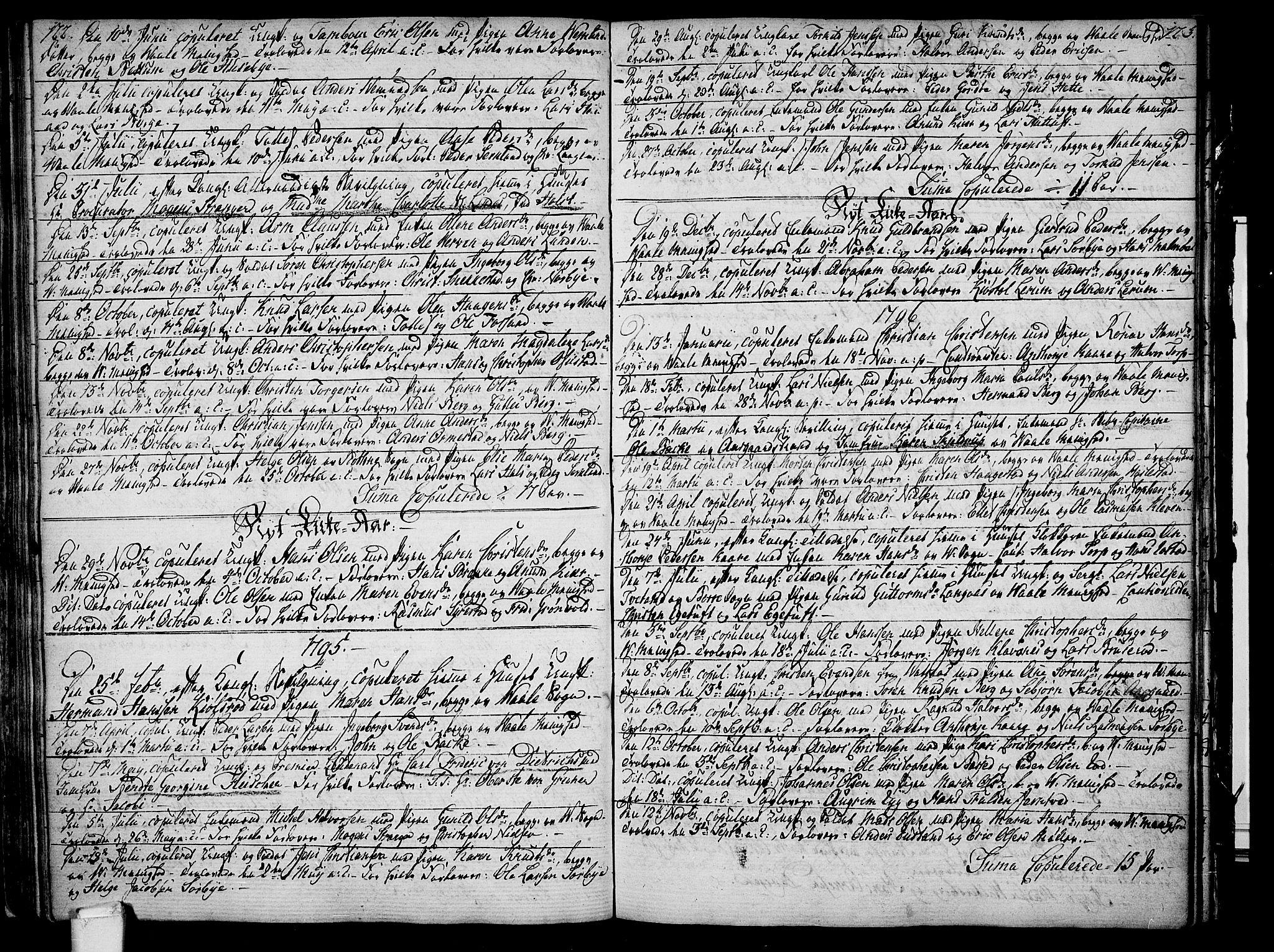 SAKO, Våle kirkebøker, F/Fa/L0005: Ministerialbok nr. I 5, 1773-1808, s. 122-123